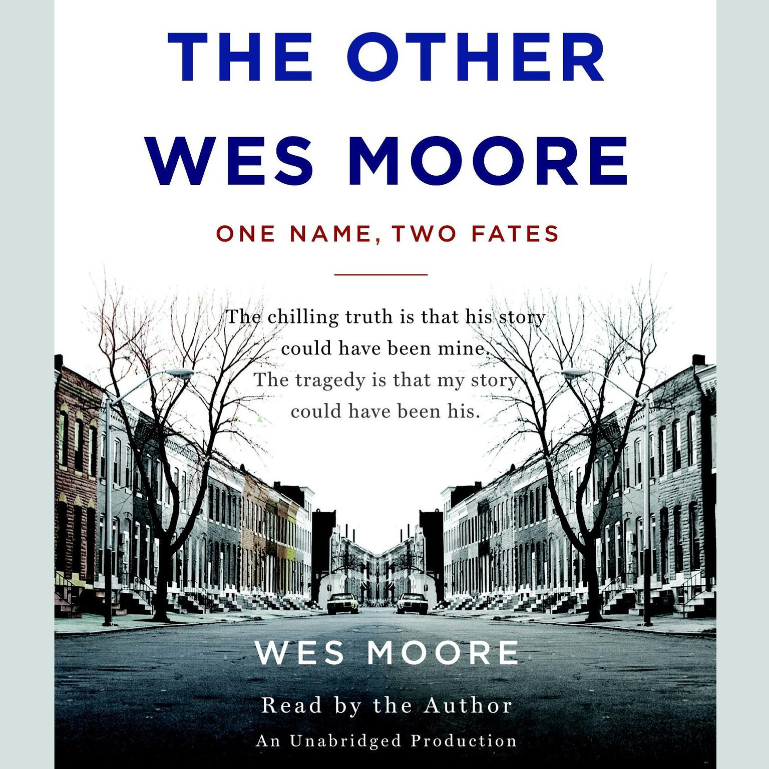 Printable The Other Wes Moore: One Name, Two Fates Audiobook Cover Art