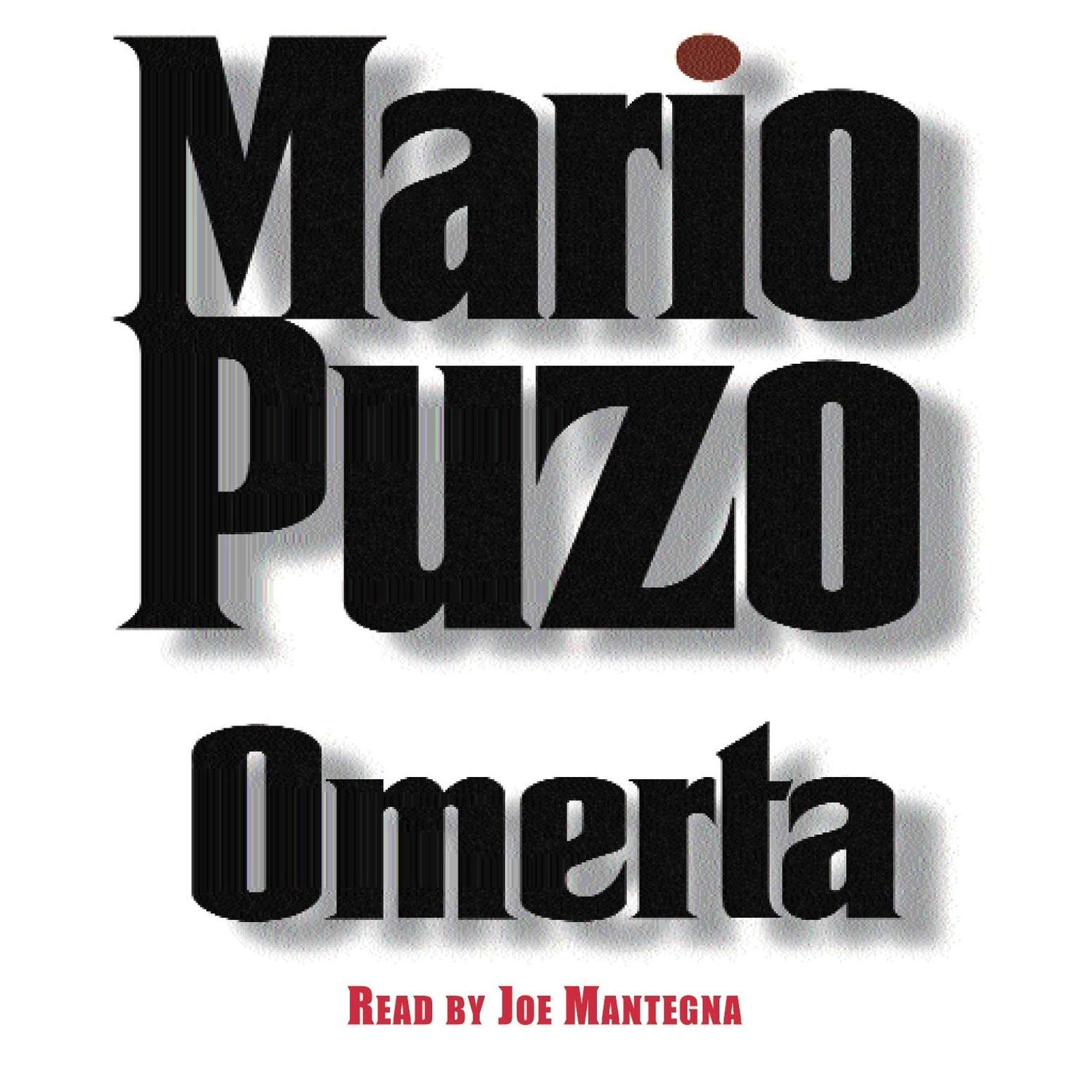 Printable Omerta Audiobook Cover Art