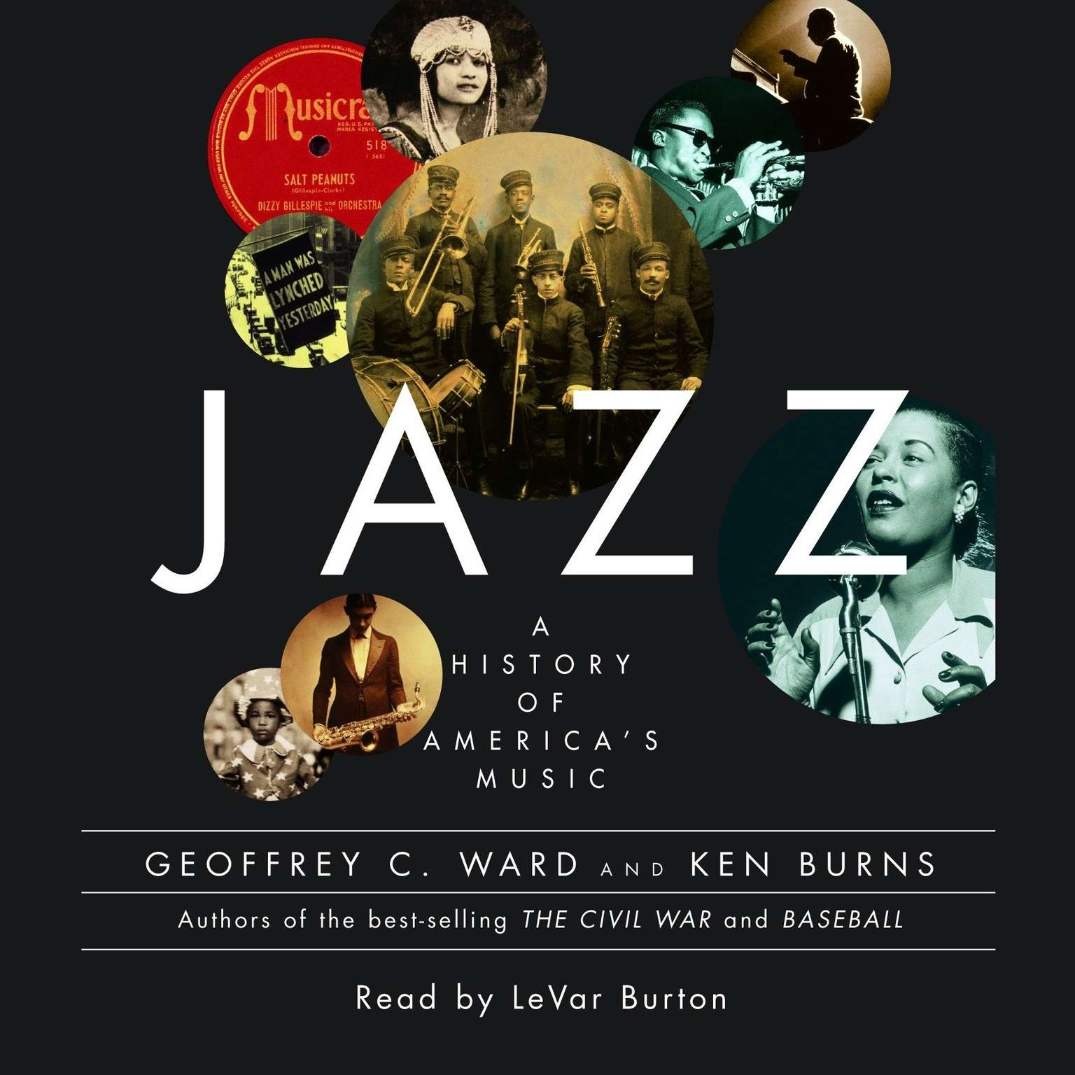 Printable Jazz: A History of America's Music Audiobook Cover Art