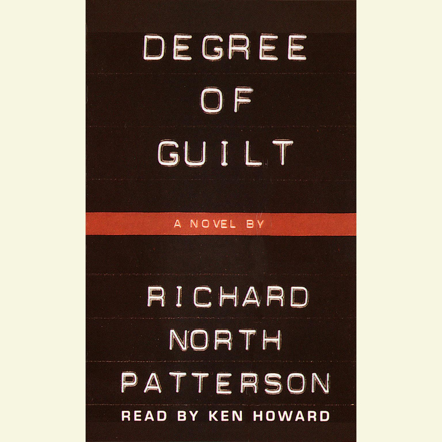 Printable Degree of Guilt Audiobook Cover Art
