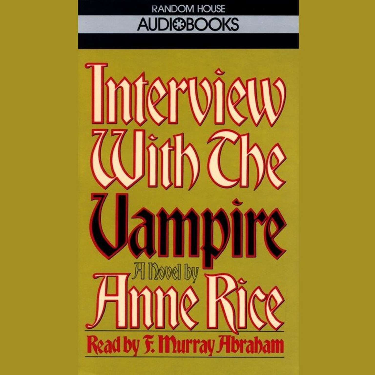 Printable Interview with the Vampire Audiobook Cover Art