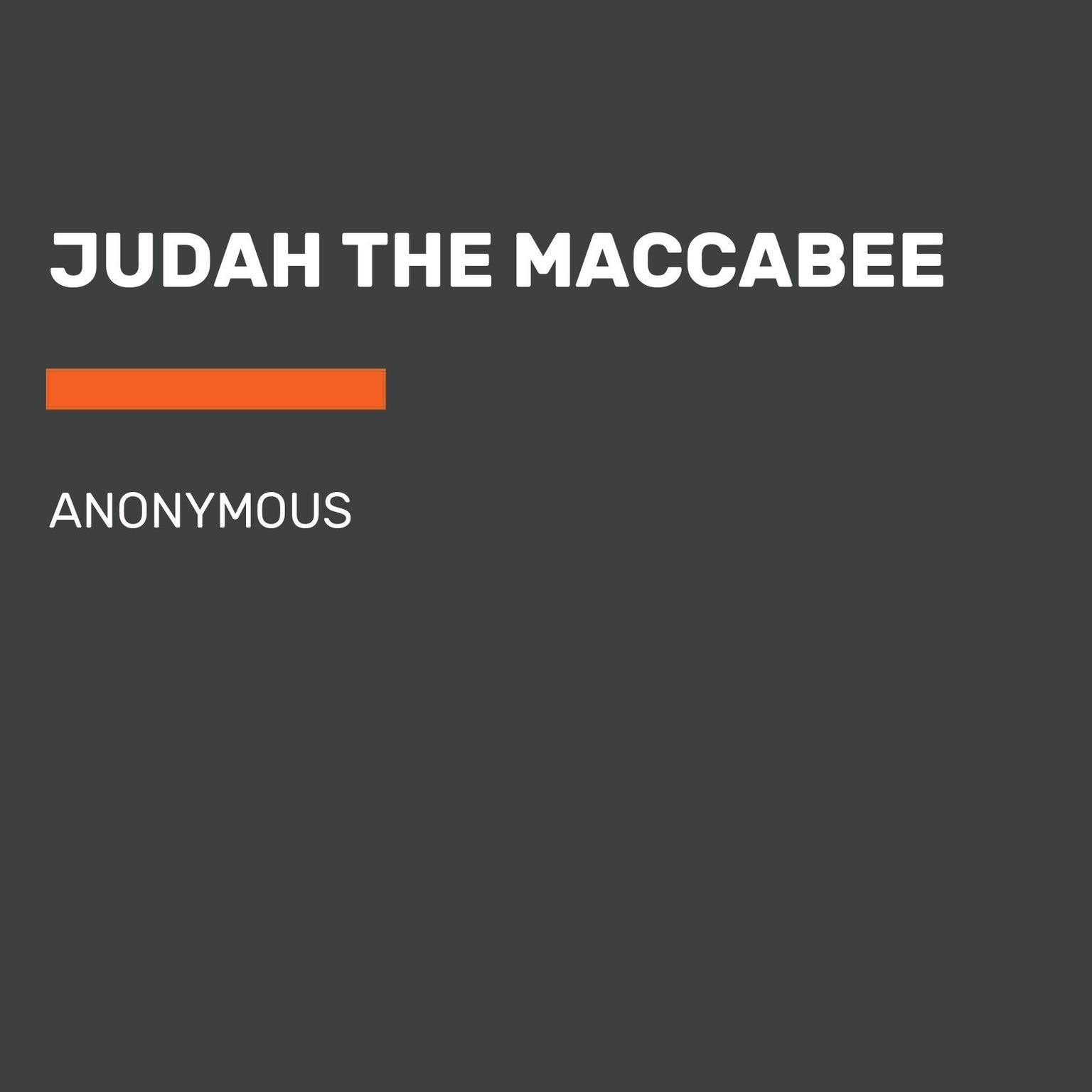 Printable Judah the Macabee Audiobook Cover Art