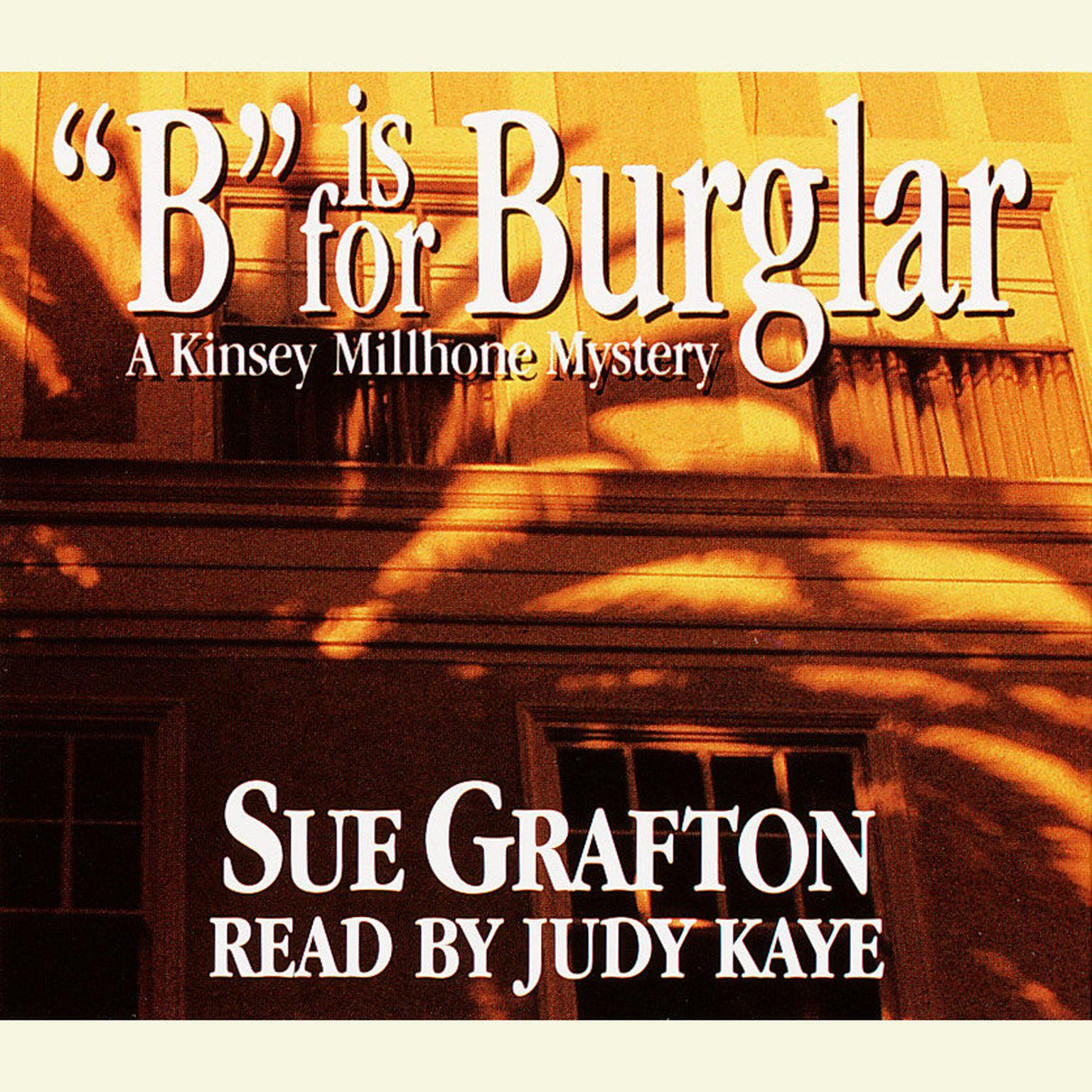 Printable B Is for Burglar Audiobook Cover Art