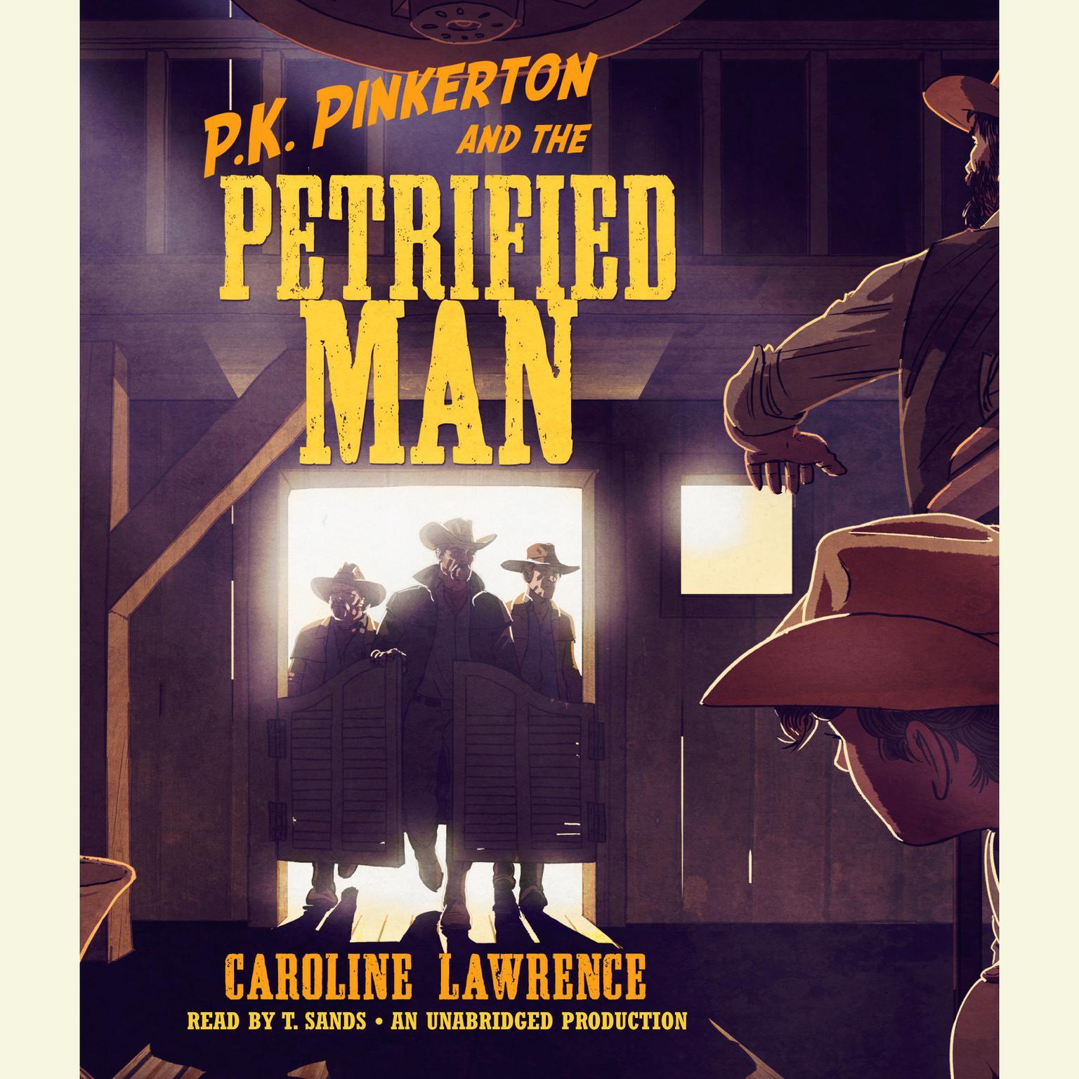 Printable P.K. Pinkerton and the Petrified Man Audiobook Cover Art