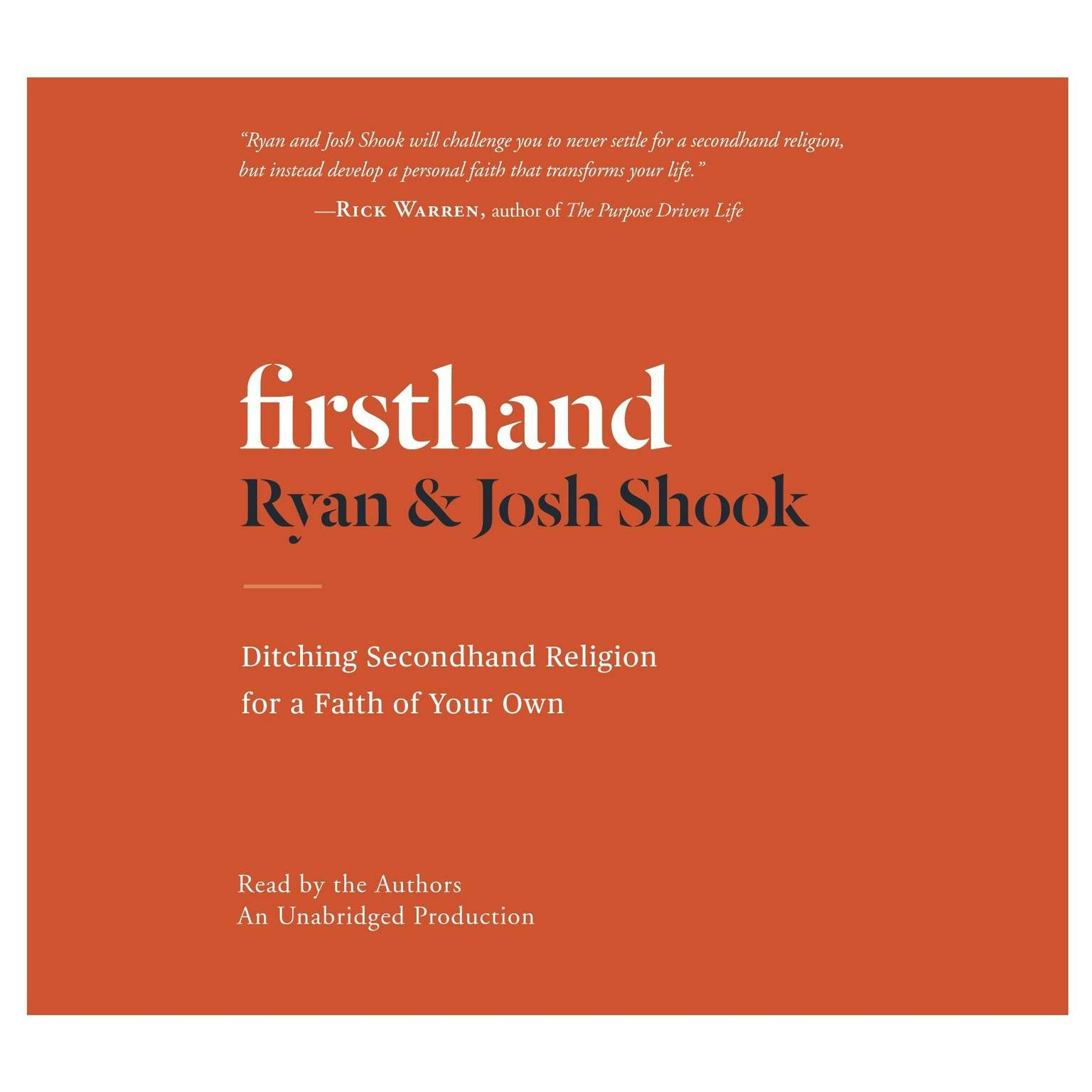 Printable Firsthand: Ditching Secondhand Religion for a Faith of Your Own Audiobook Cover Art