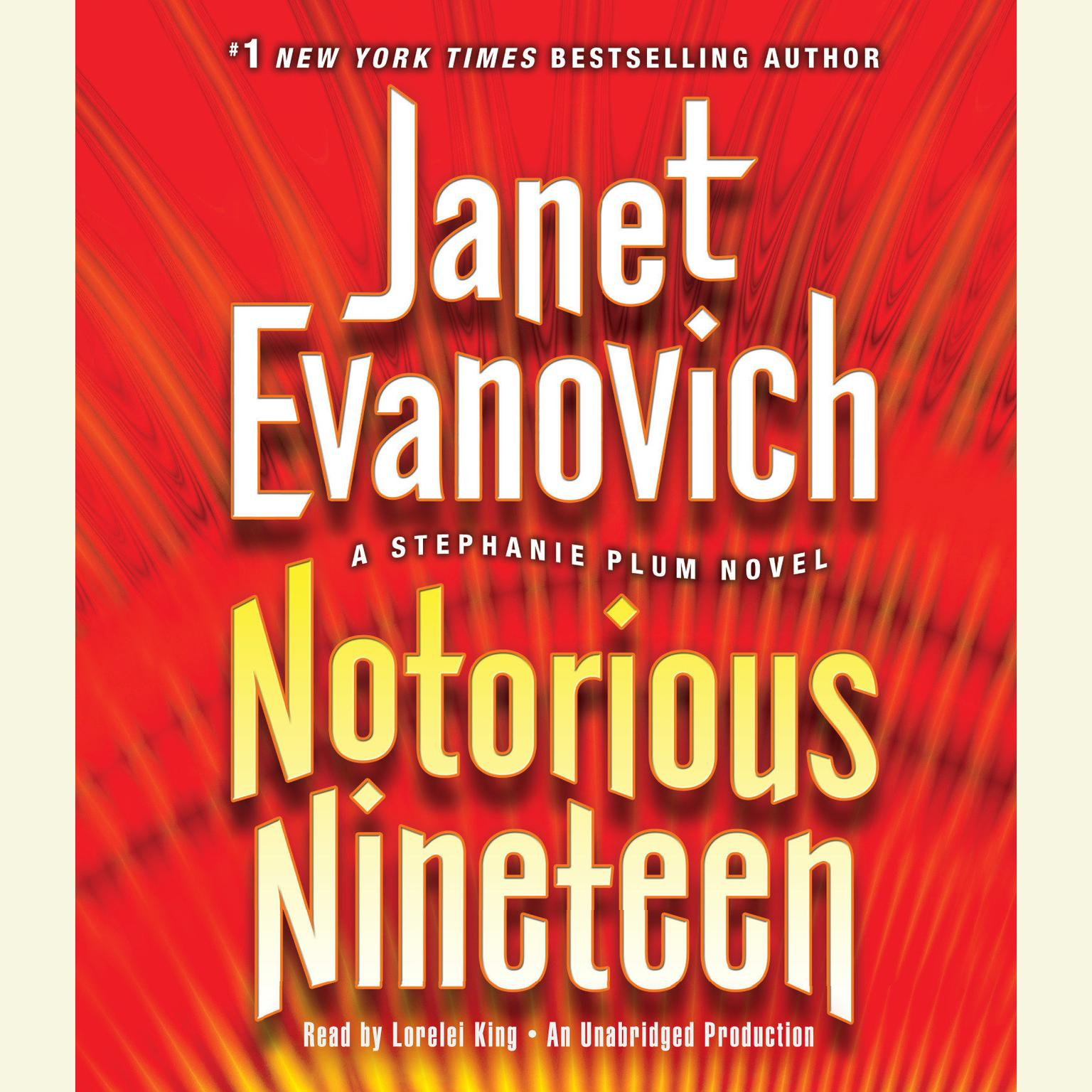 Printable Notorious Nineteen: A Stephanie Plum Novel Audiobook Cover Art