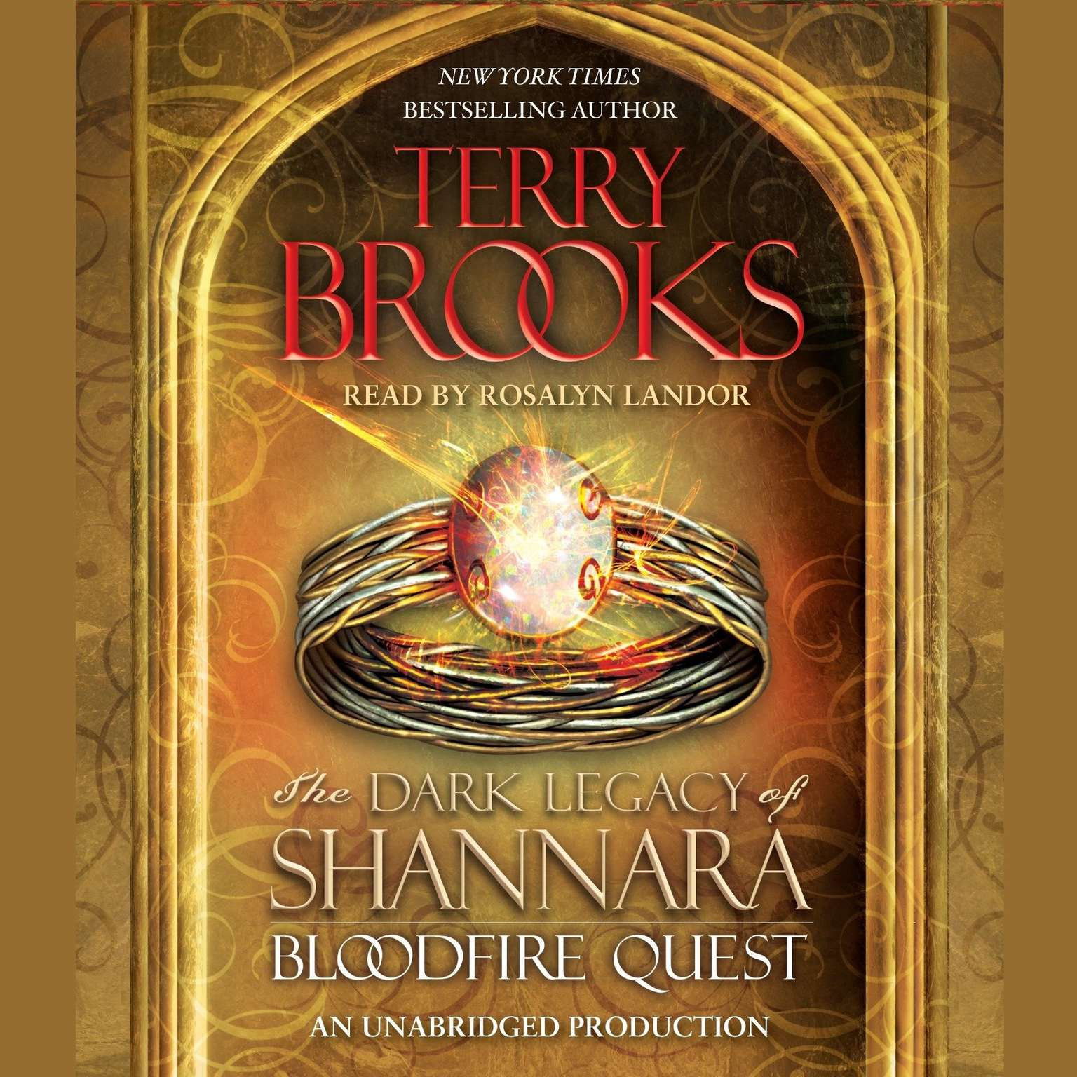 Printable Bloodfire Quest: The Dark Legacy of Shannara Audiobook Cover Art