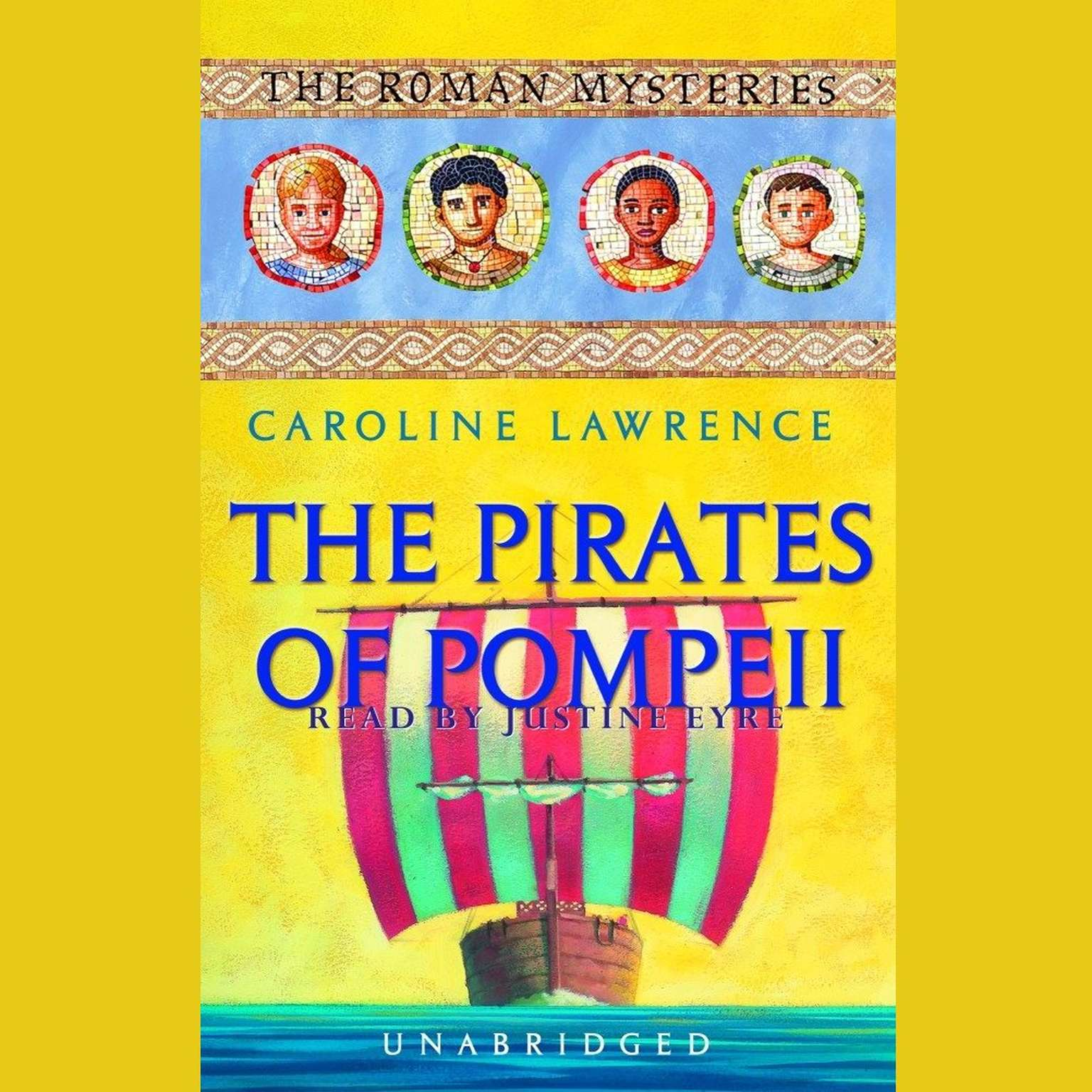 Printable The Pirates of Pompeii: The Roman Mysteries Book 3 Audiobook Cover Art
