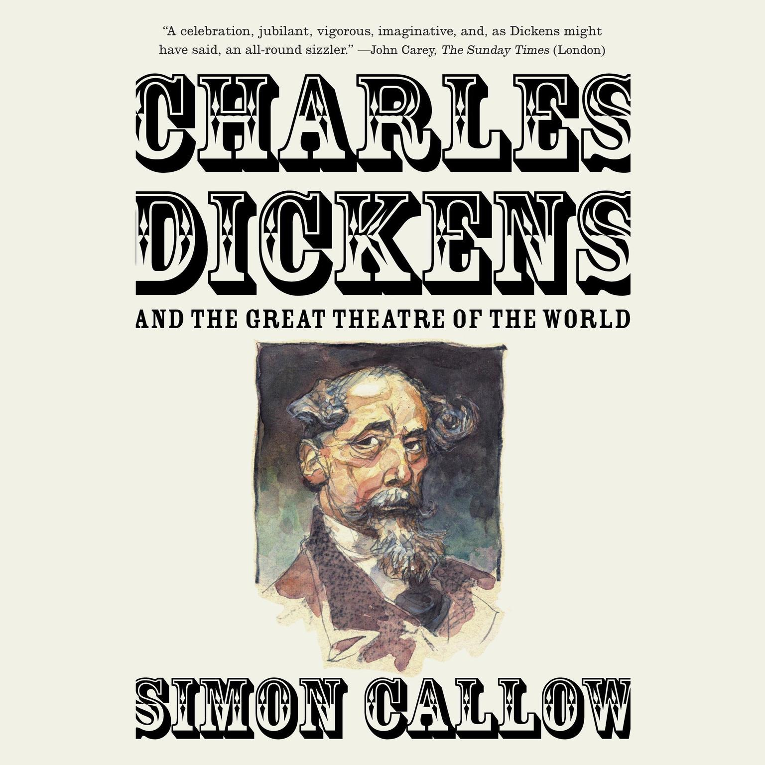 Printable Charles Dickens and the Great Theatre of the World Audiobook Cover Art