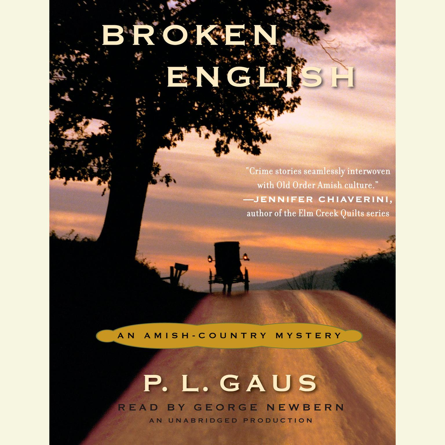Printable Broken English: An Amish-Country Mystery (#2) Audiobook Cover Art