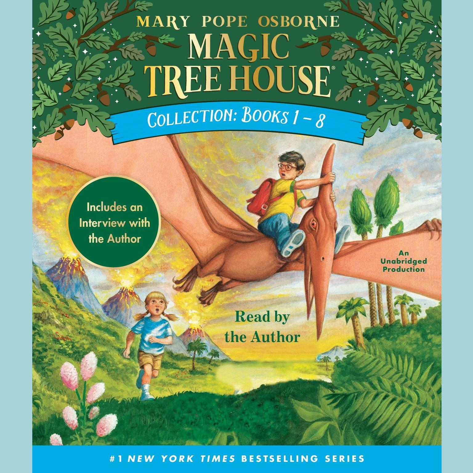 Printable Magic Tree House Collection: Books 1-8: Dinosaurs Before Dark, The Knight at Dawn, Mummies in the Morning, Pirates Past Noon, Night of the Ninjas, Afternoon on the Amazon, and more! Audiobook Cover Art