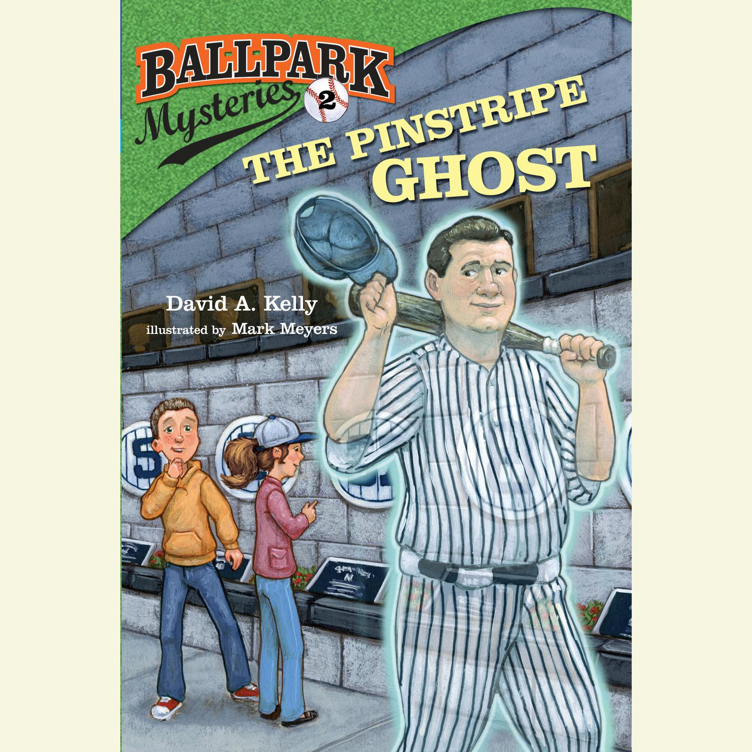 Printable Ballpark Mysteries #2: The Pinstripe Ghost Audiobook Cover Art
