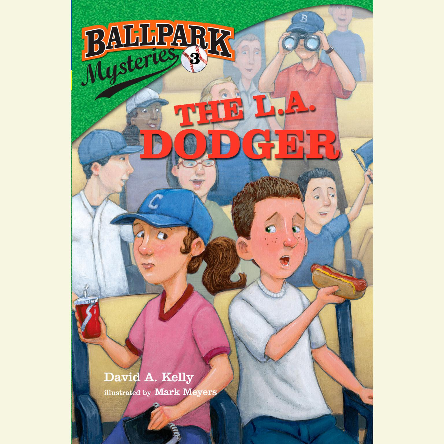 Printable Ballpark Mysteries #3: The L.A. Dodger Audiobook Cover Art