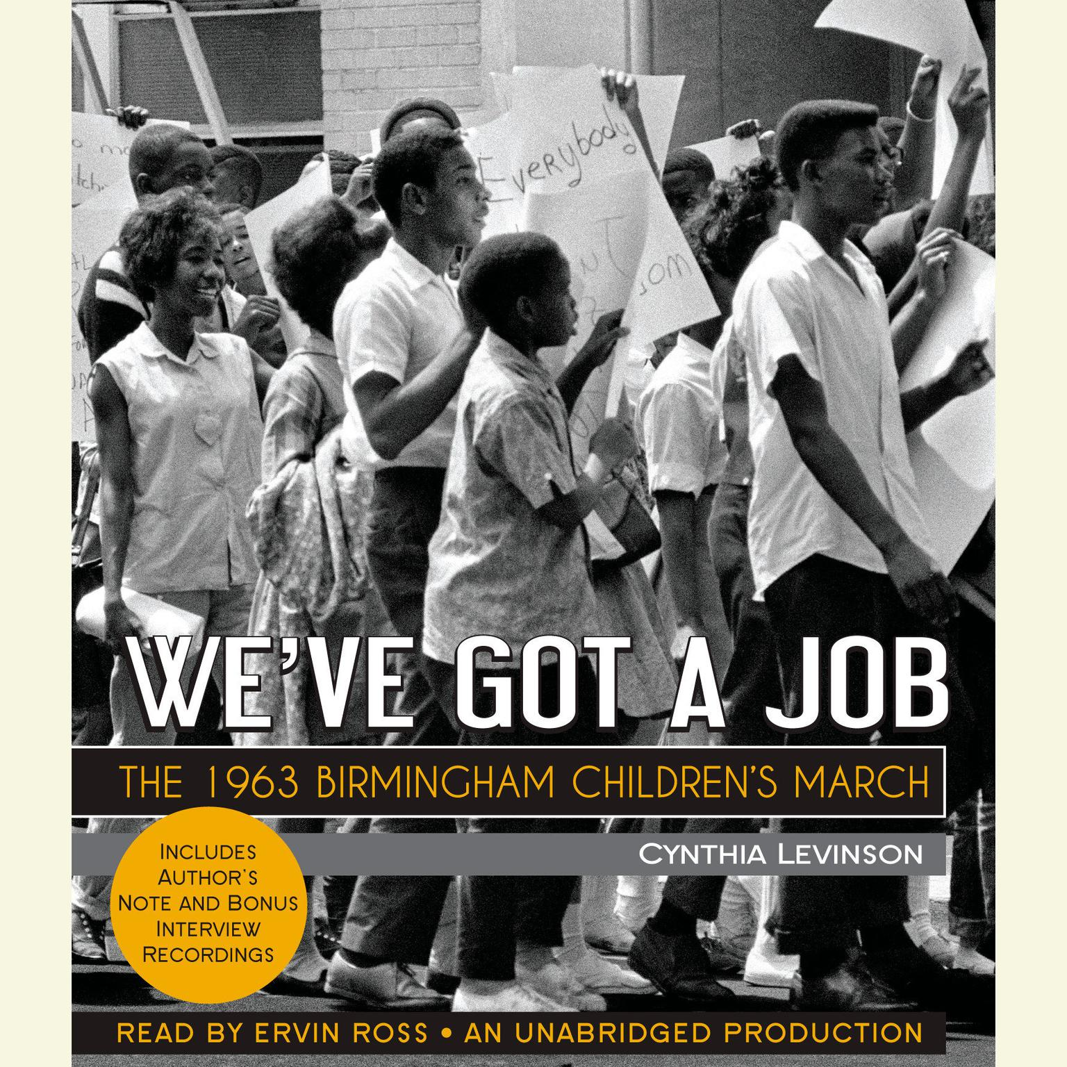 Printable We've Got a Job: The 1963 Birmingham Children's March: The 1963 Birmingham Children's March Audiobook Cover Art