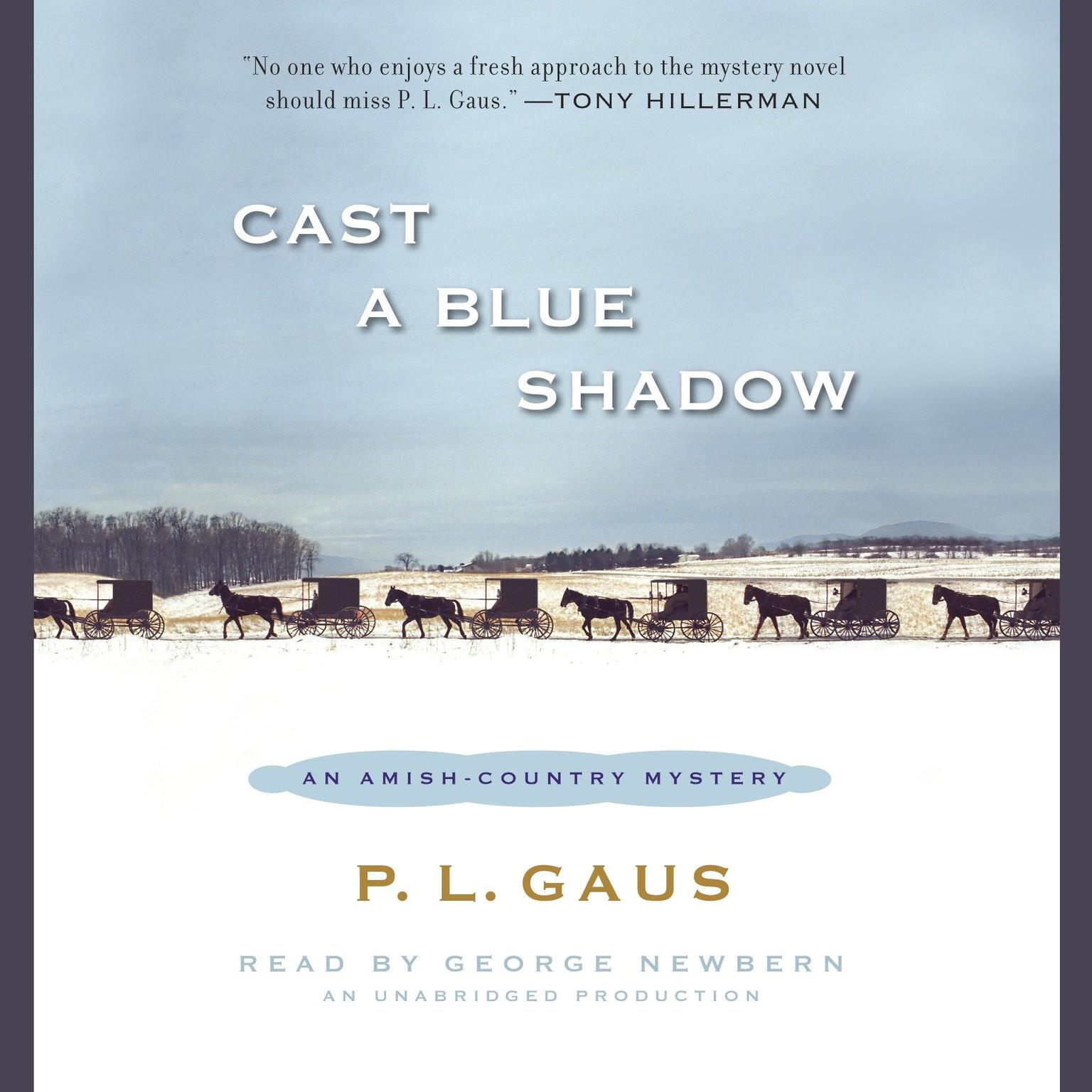 Printable Cast a Blue Shadow Audiobook Cover Art