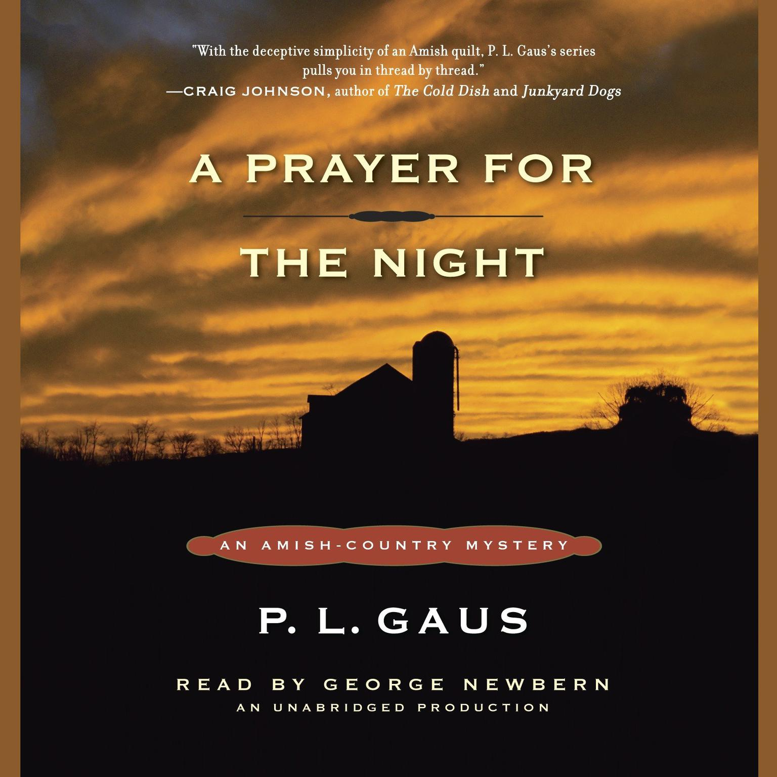 Printable A Prayer for the Night: An Amish-Country Mystery (#5) Audiobook Cover Art