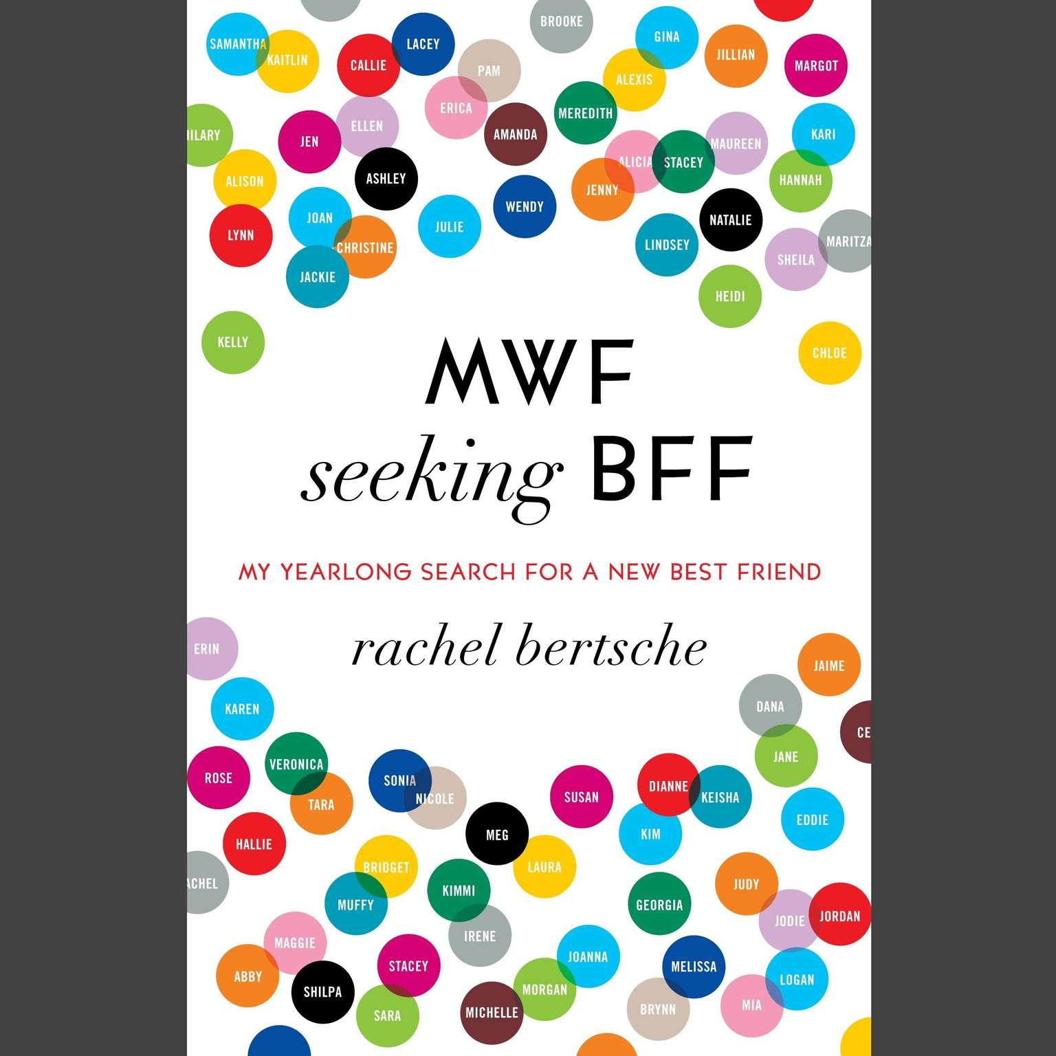 Printable MWF Seeking BFF: My Yearlong Search for a New Best Friend Audiobook Cover Art