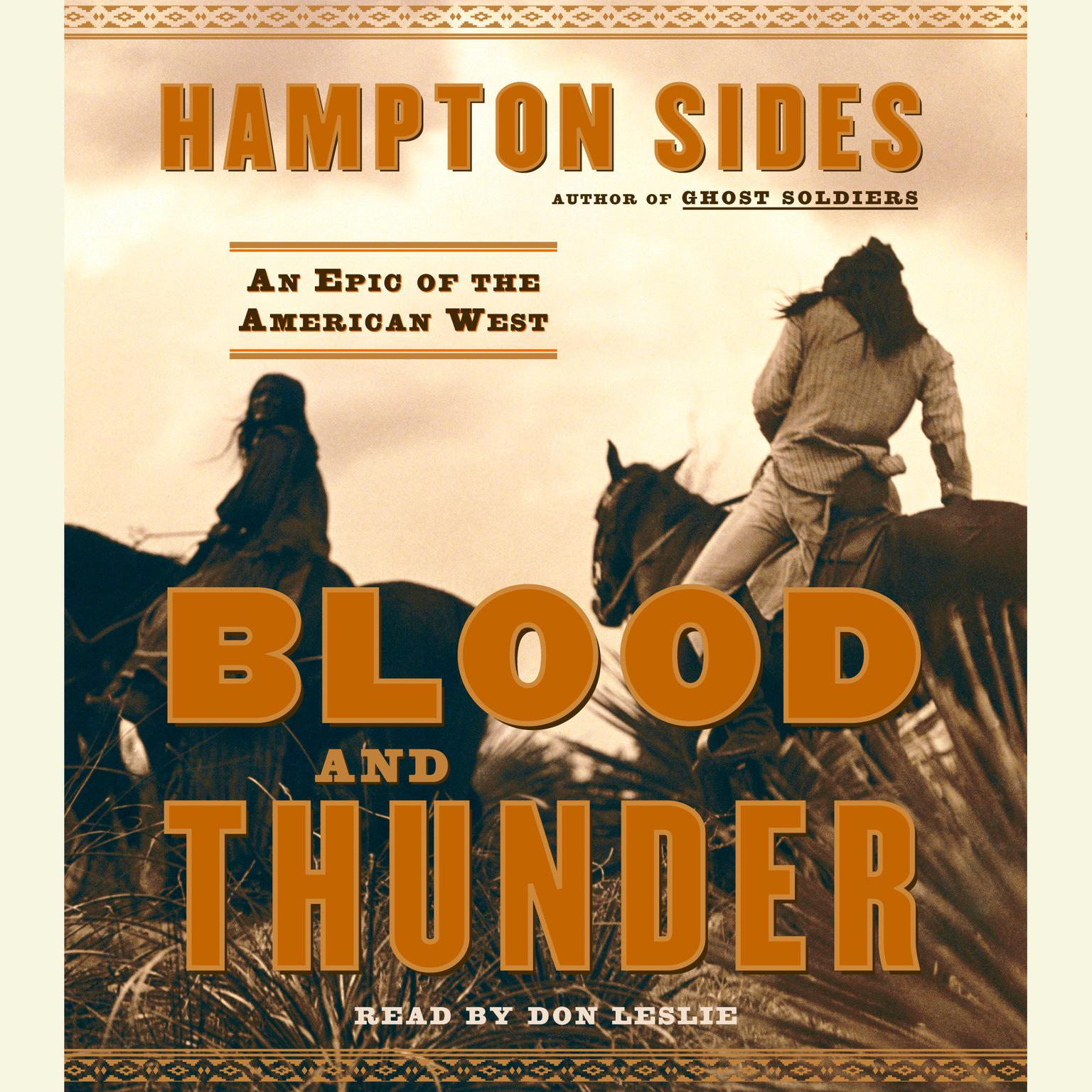Printable Blood and Thunder: An Epic of the American West Audiobook Cover Art