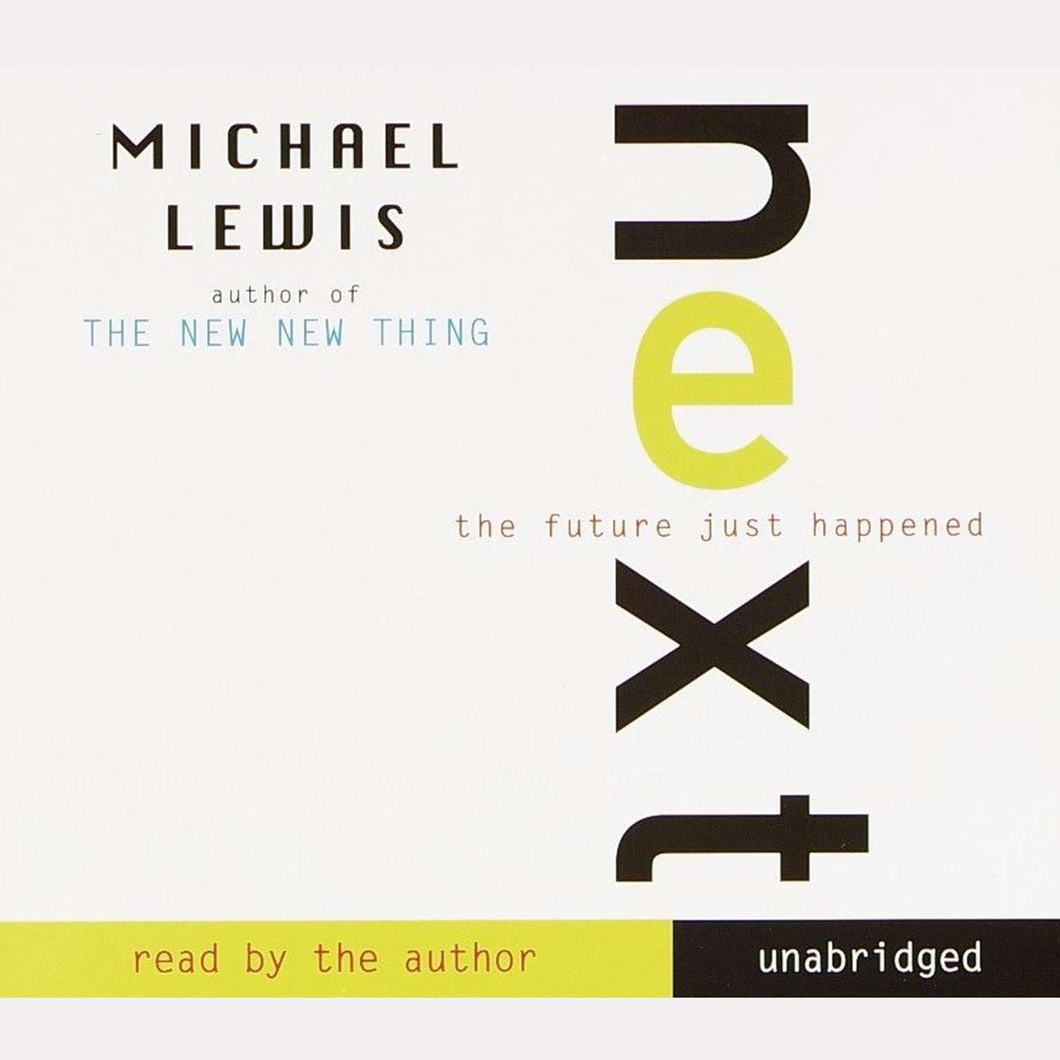 Printable Next: The Future Just Happened Audiobook Cover Art