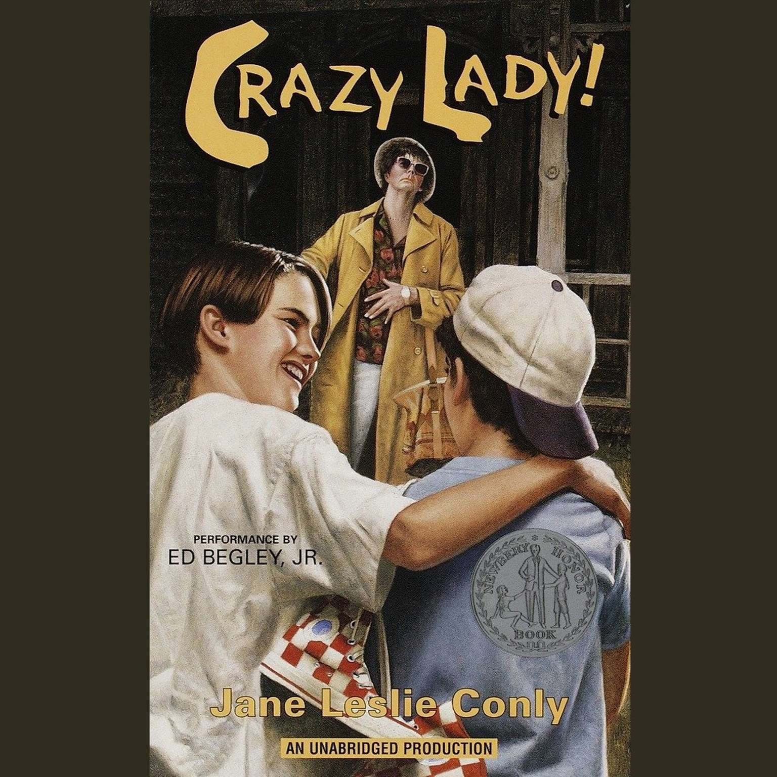Printable Crazy Lady Audiobook Cover Art