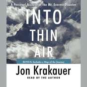 Into Thin Air: A Personal Account of the Mt. Everest Disaster, by Jon Krakauer