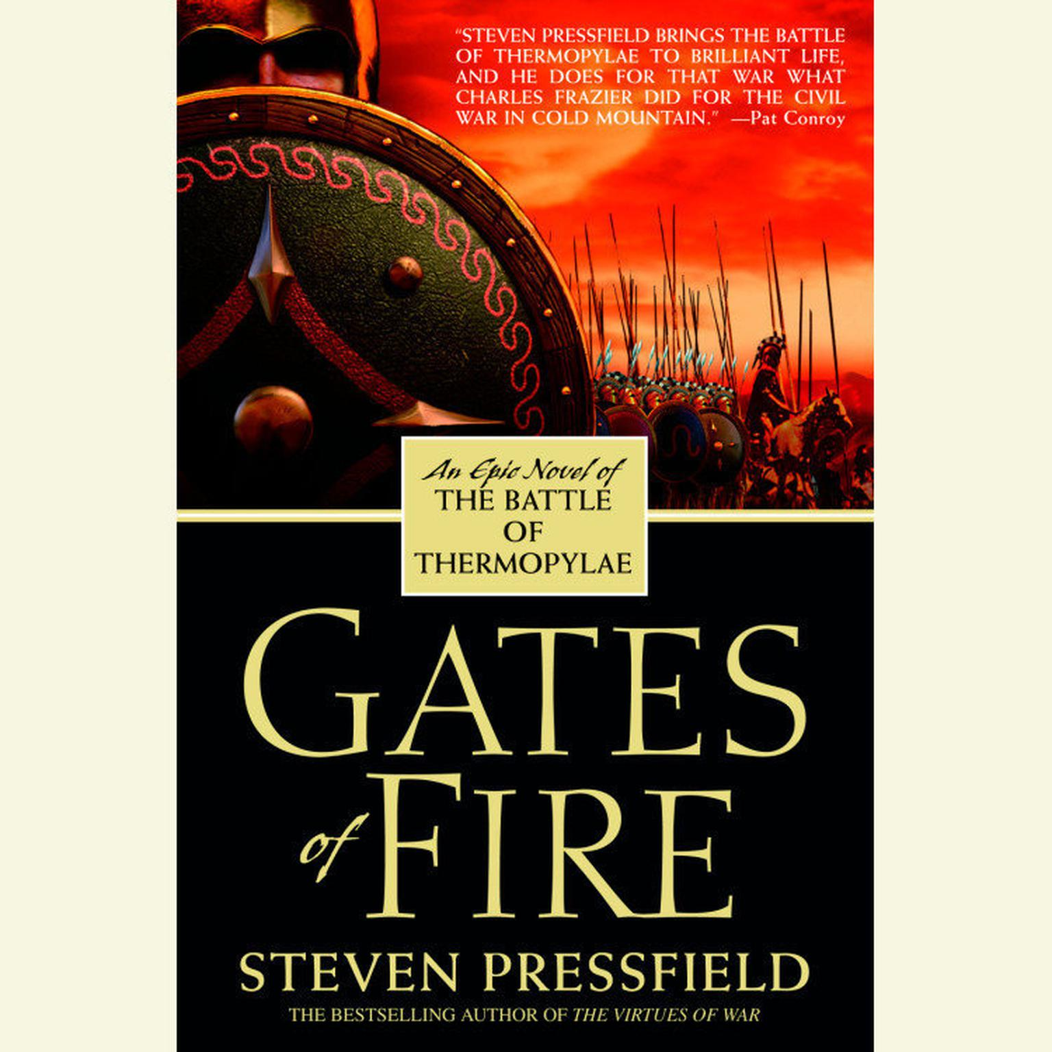 Printable Gates of Fire Audiobook Cover Art