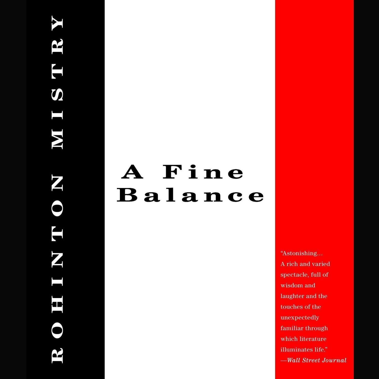 Printable A Fine Balance Audiobook Cover Art
