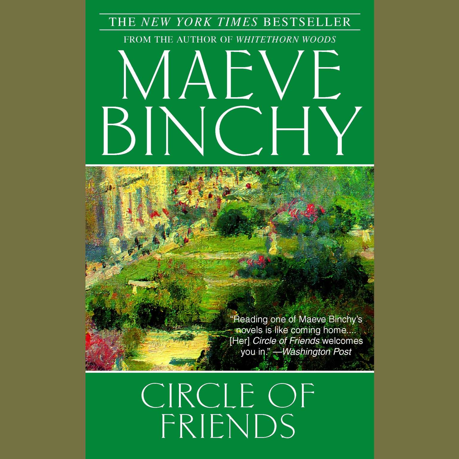 Printable Circle of Friends Audiobook Cover Art