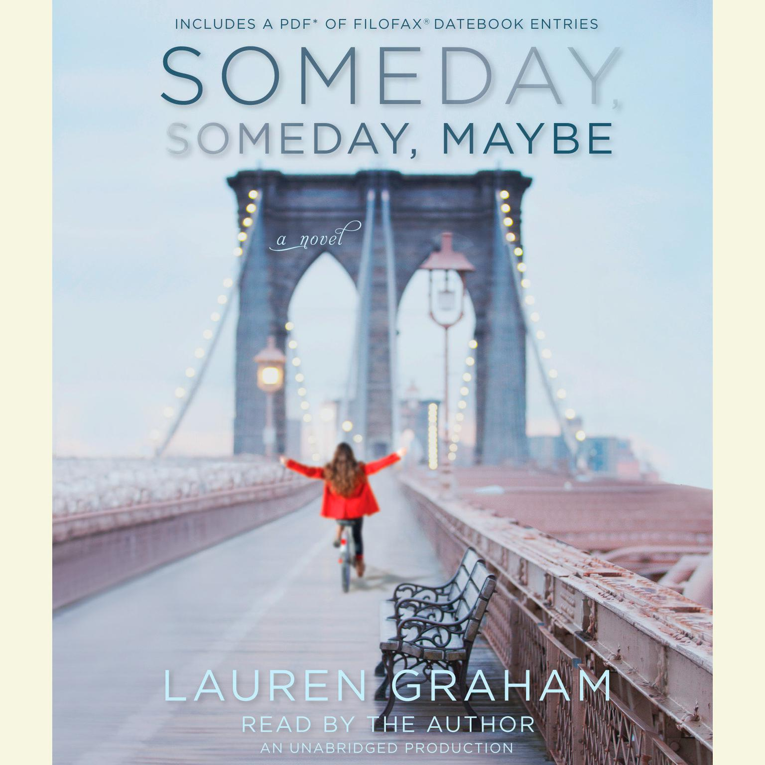 Printable Someday, Someday, Maybe: A Novel Audiobook Cover Art