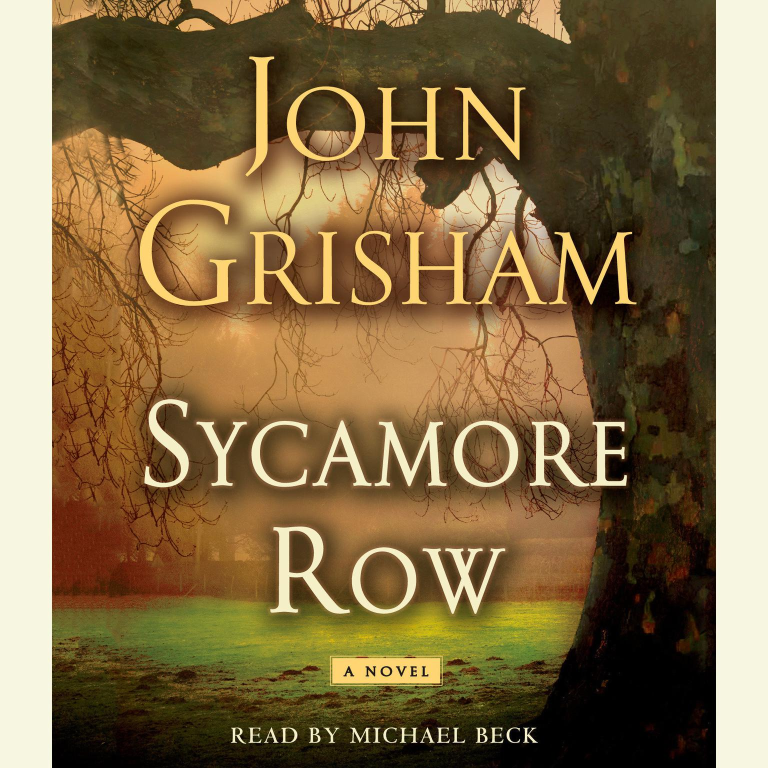 Printable Sycamore Row Audiobook Cover Art