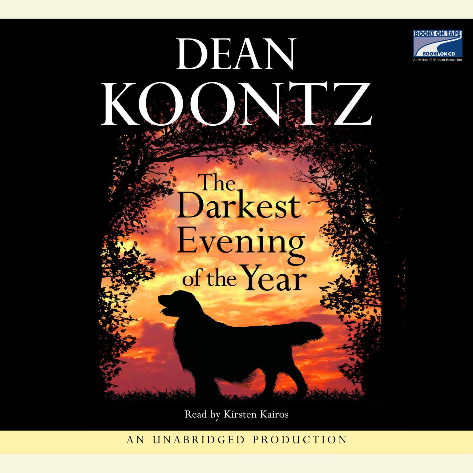 Printable The Darkest Evening of the Year Audiobook Cover Art