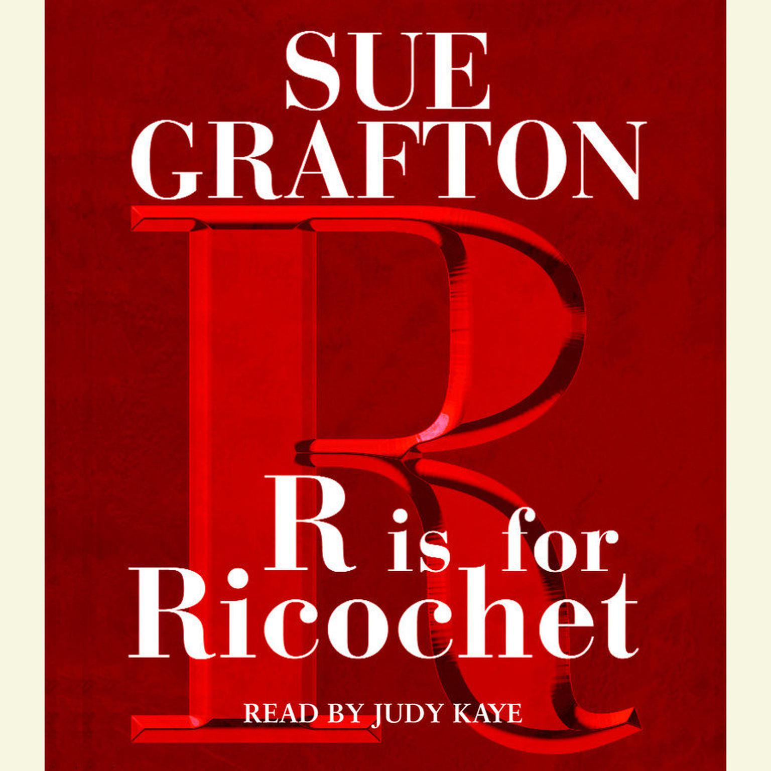 Printable R Is For Ricochet Audiobook Cover Art