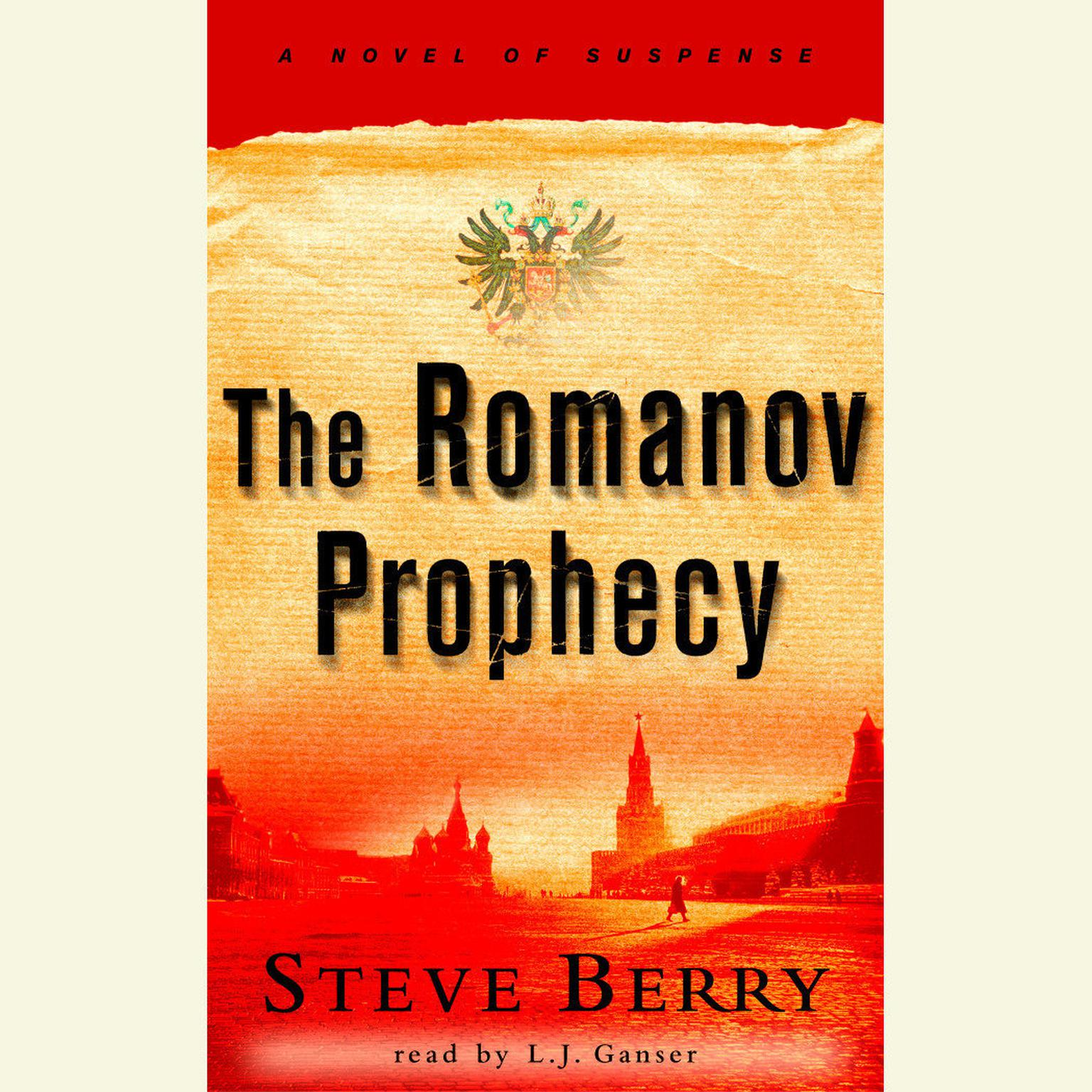 Printable The Romanov Prophecy Audiobook Cover Art