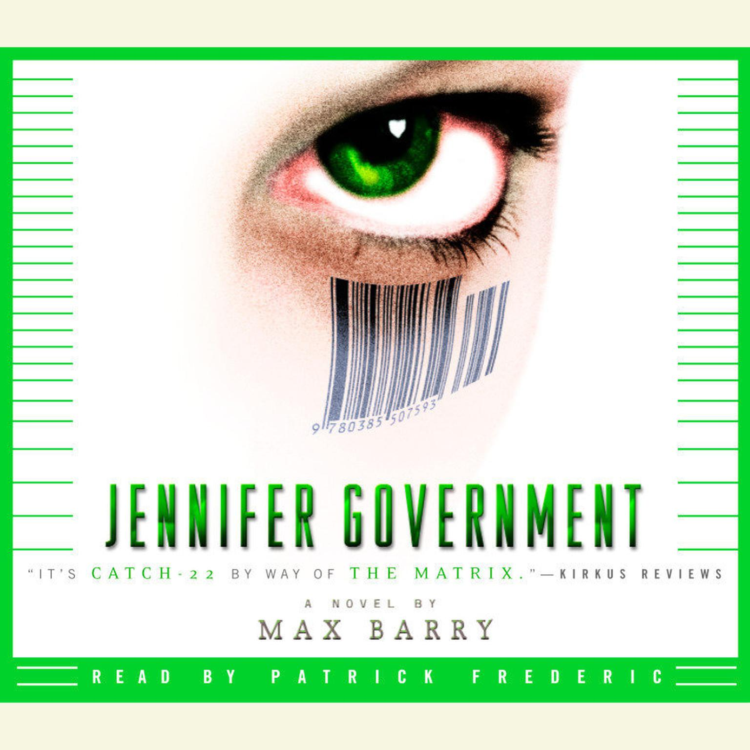 Printable Jennifer Government Audiobook Cover Art
