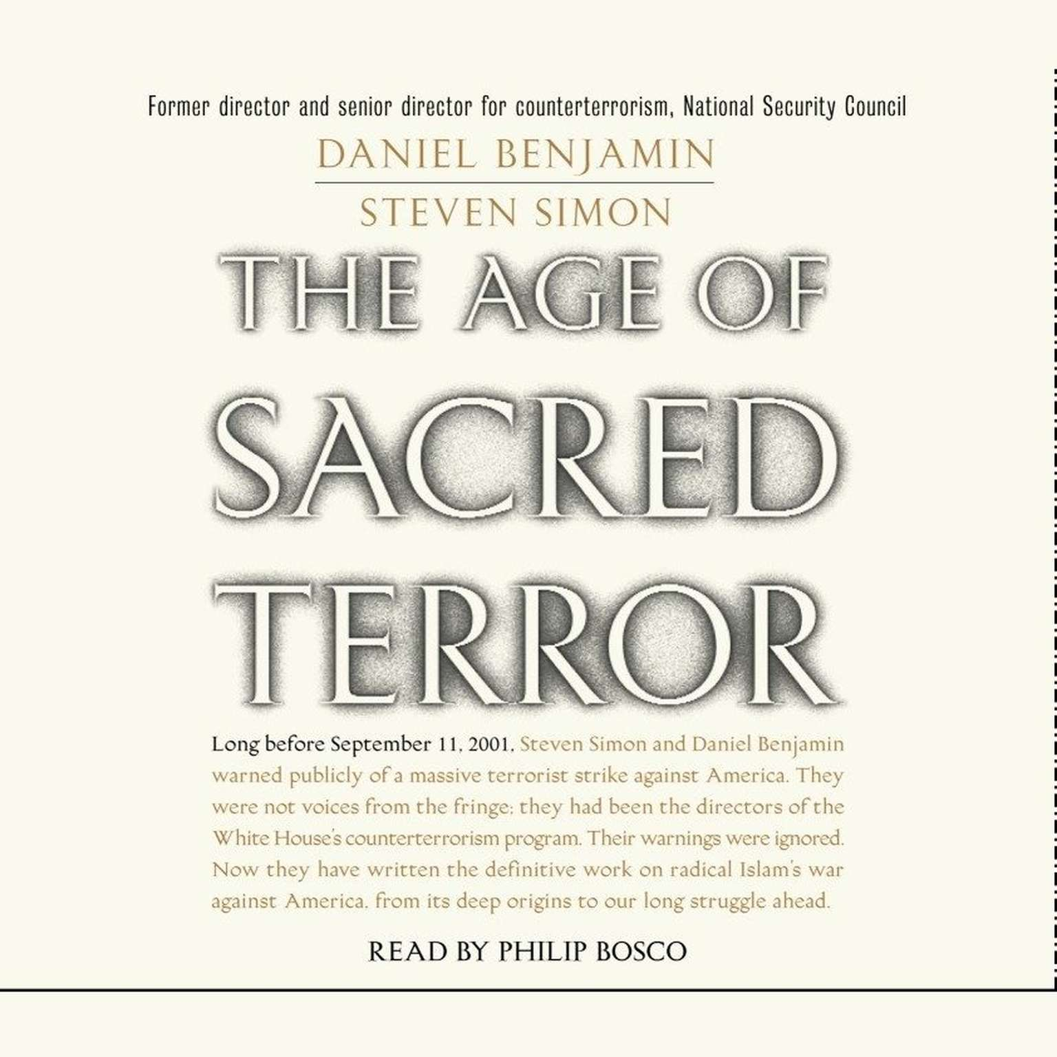 Printable The Age of Sacred Terror: Radical Islam's War Against America Audiobook Cover Art