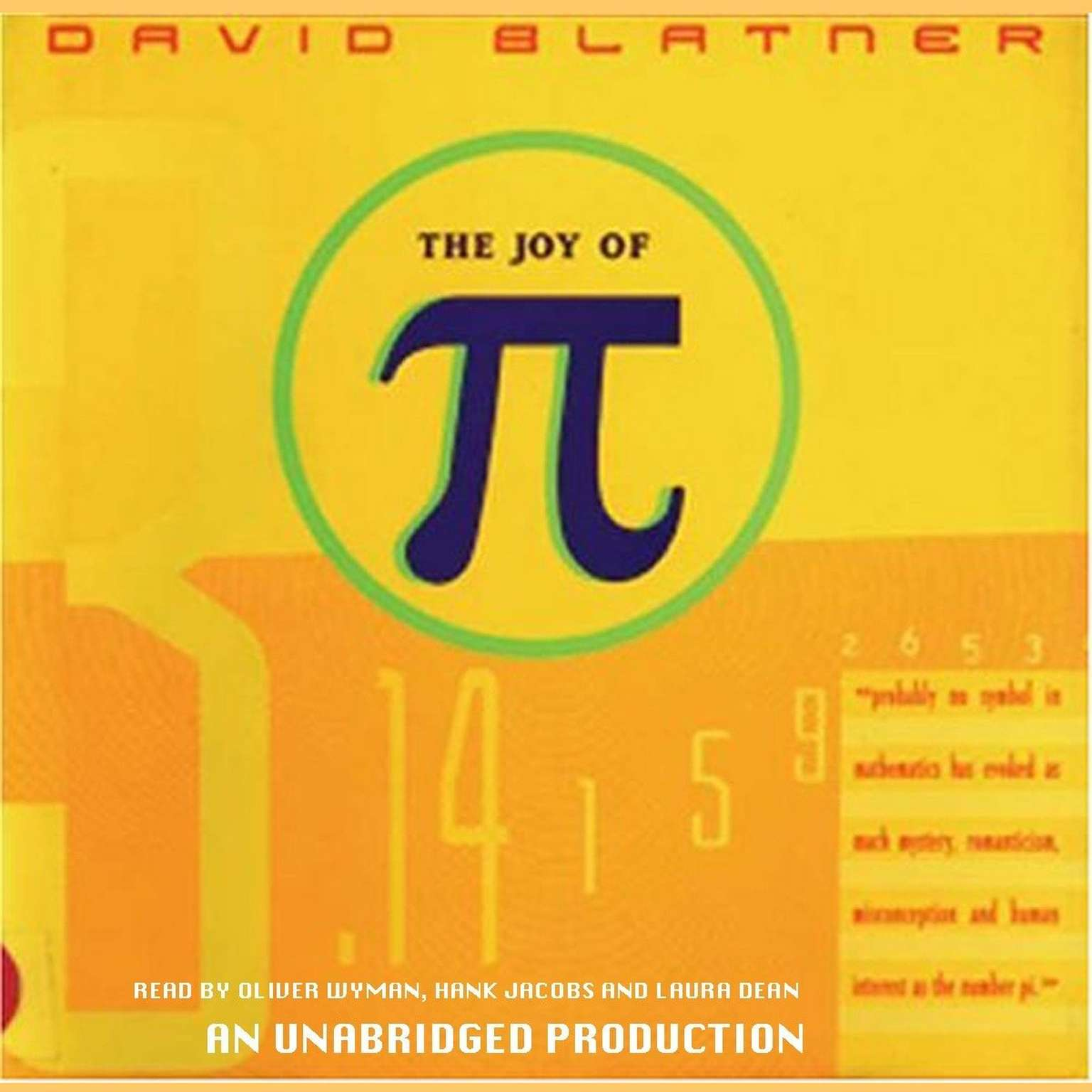 Printable The Joy of Pi Audiobook Cover Art