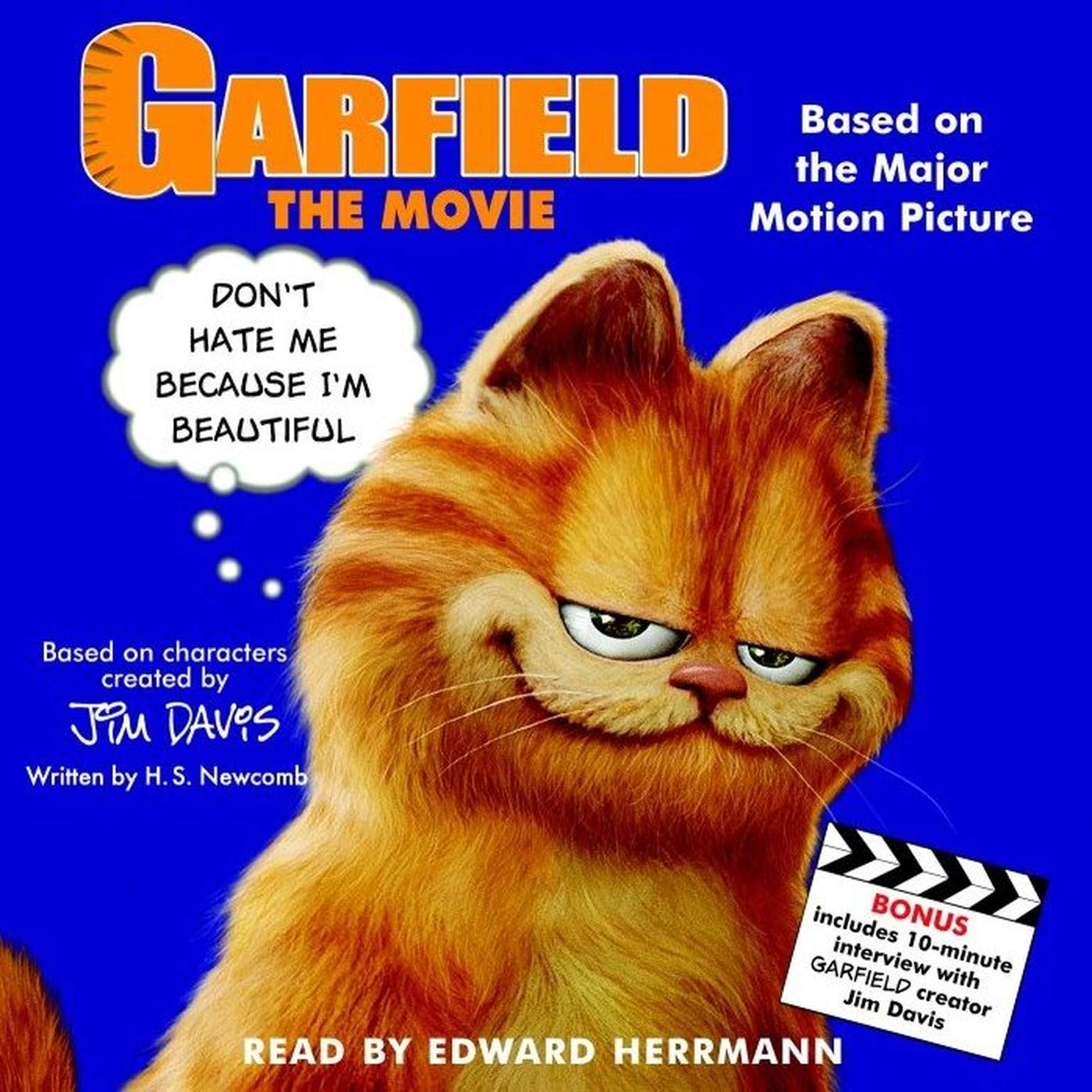 Printable Garfield the Movie Audiobook Cover Art