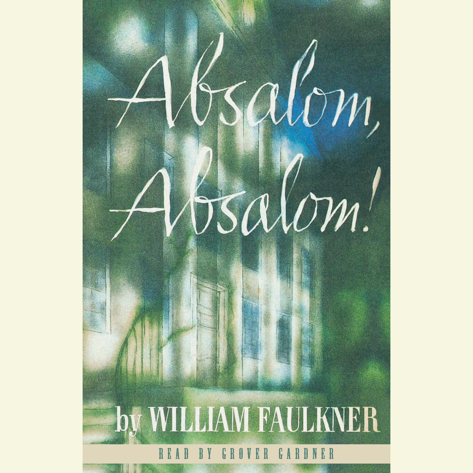 Printable Absalom, Absalom! Audiobook Cover Art