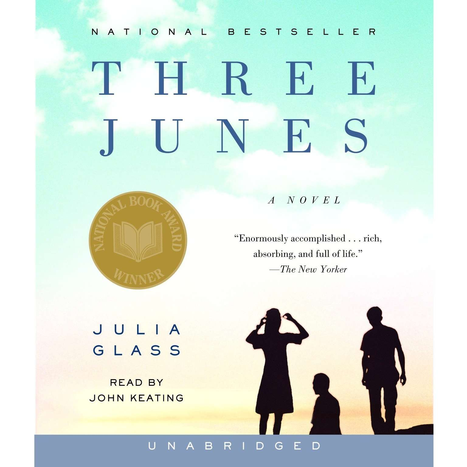 Printable Three Junes: A novel Audiobook Cover Art