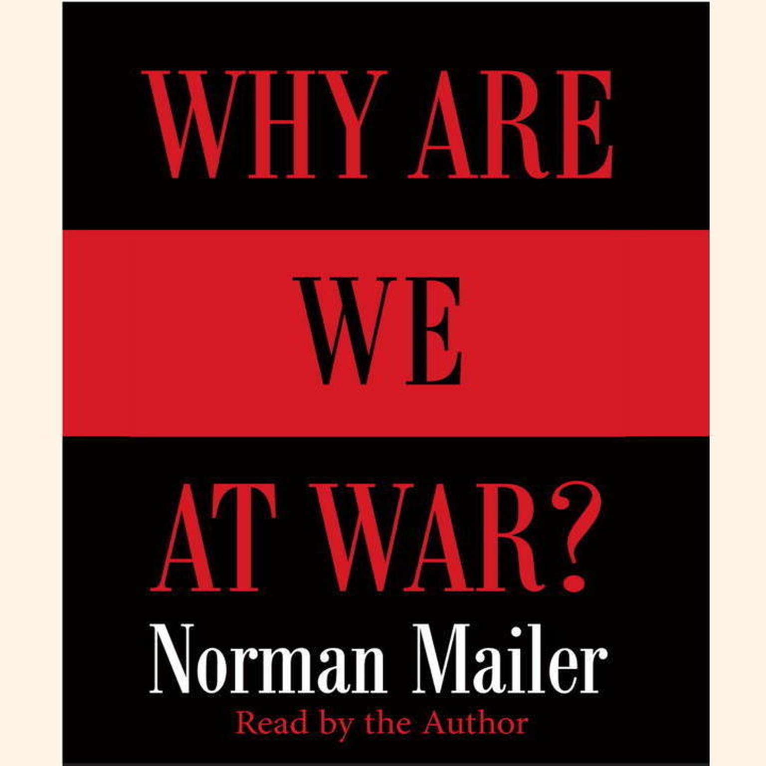 Printable Why Are We at War? Audiobook Cover Art