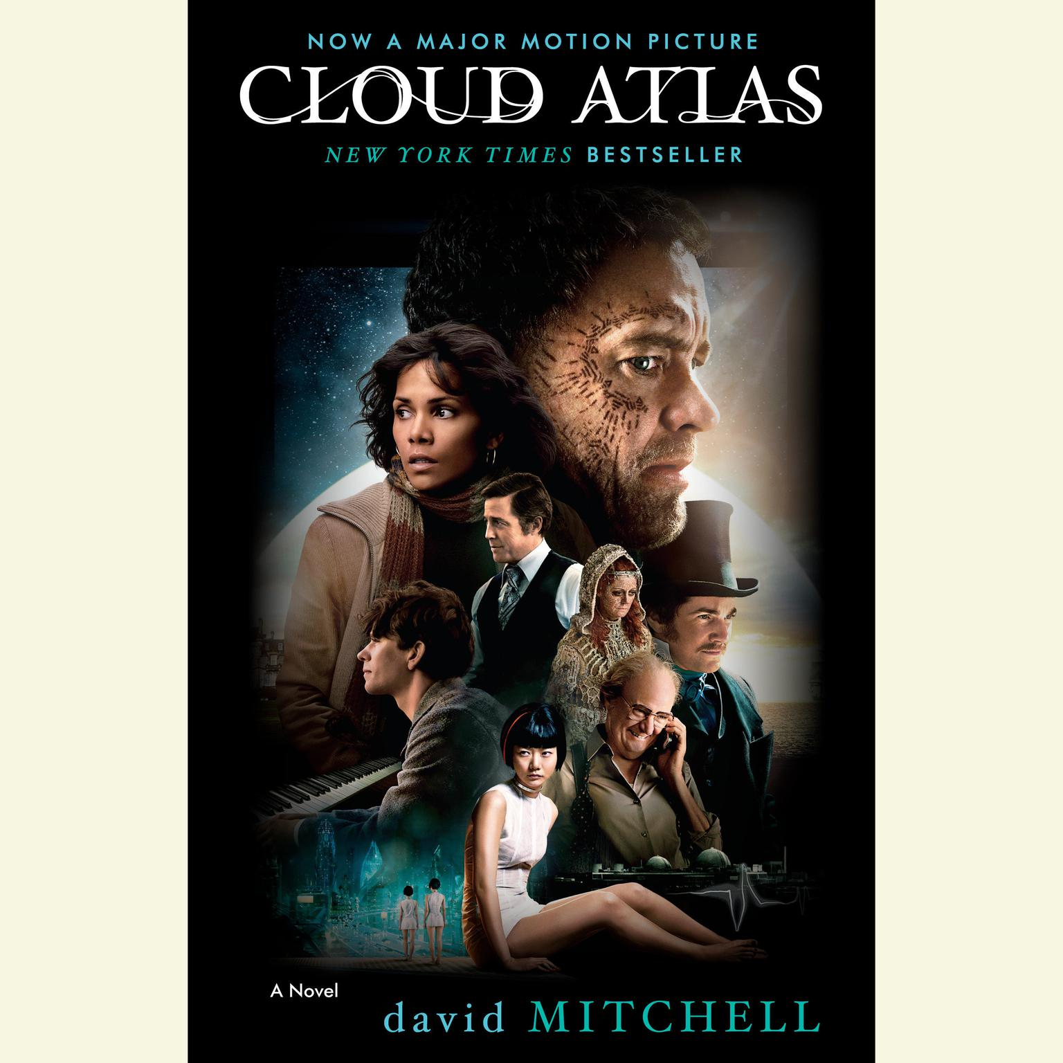 Printable Cloud Atlas: A Novel Audiobook Cover Art