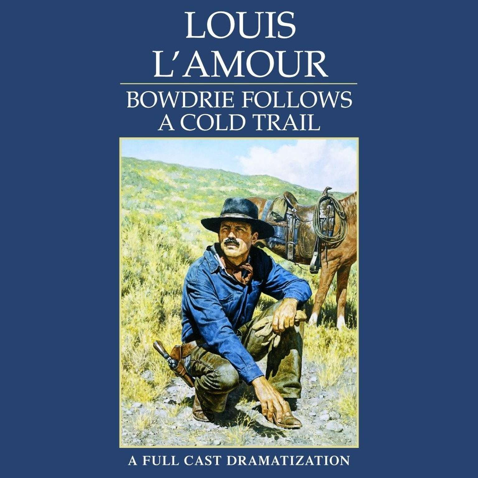 Printable Bowdrie Follows a Cold Trail Audiobook Cover Art