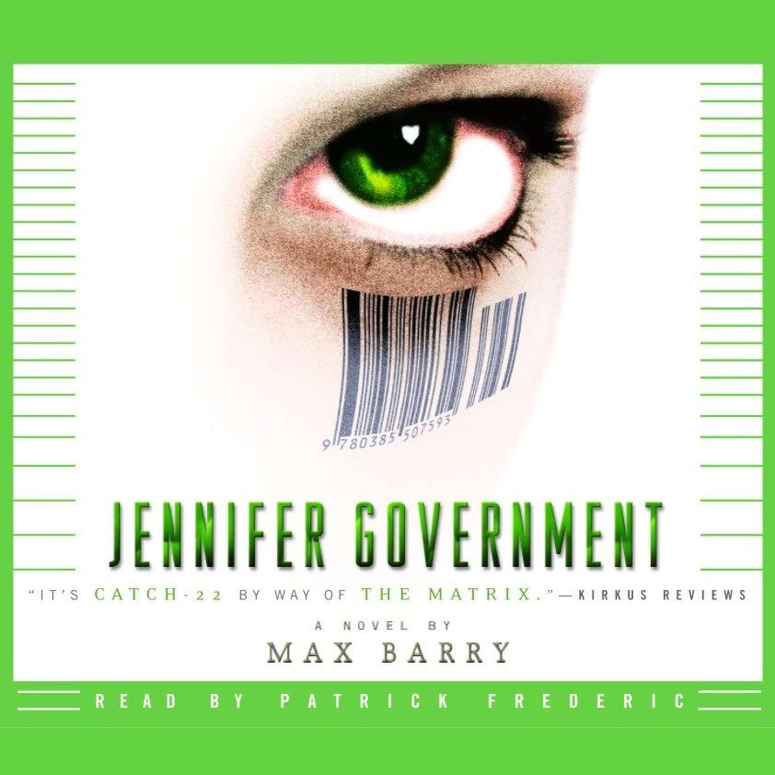 Printable Jennifer Government: A Novel Audiobook Cover Art