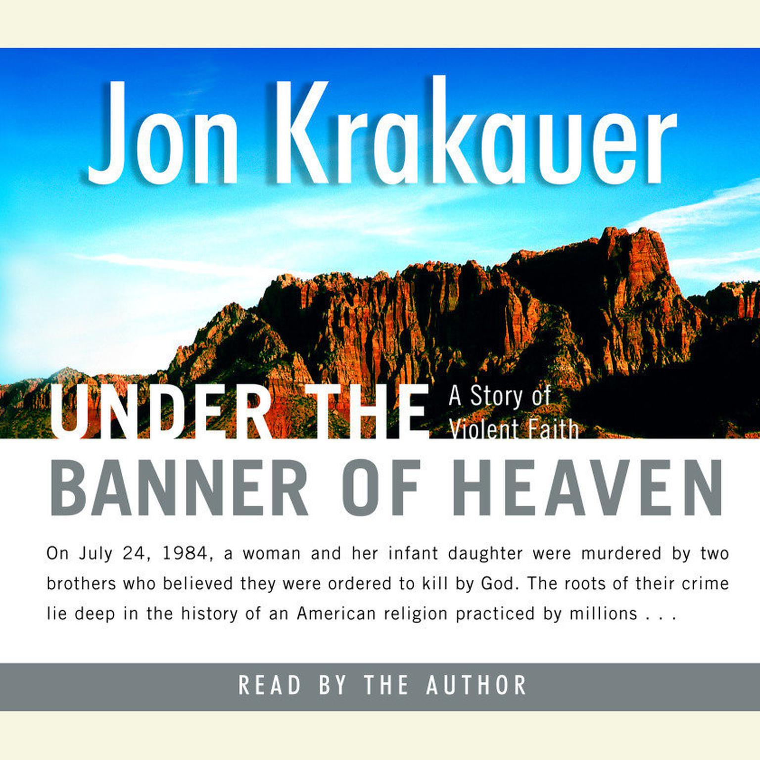 Printable Under the Banner of Heaven: A Story of Violent Faith Audiobook Cover Art