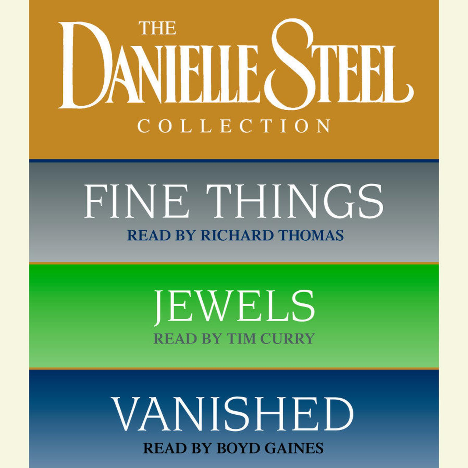 Printable Danielle Steel Value Collection: Fine Things, Jewels, Vanished Audiobook Cover Art