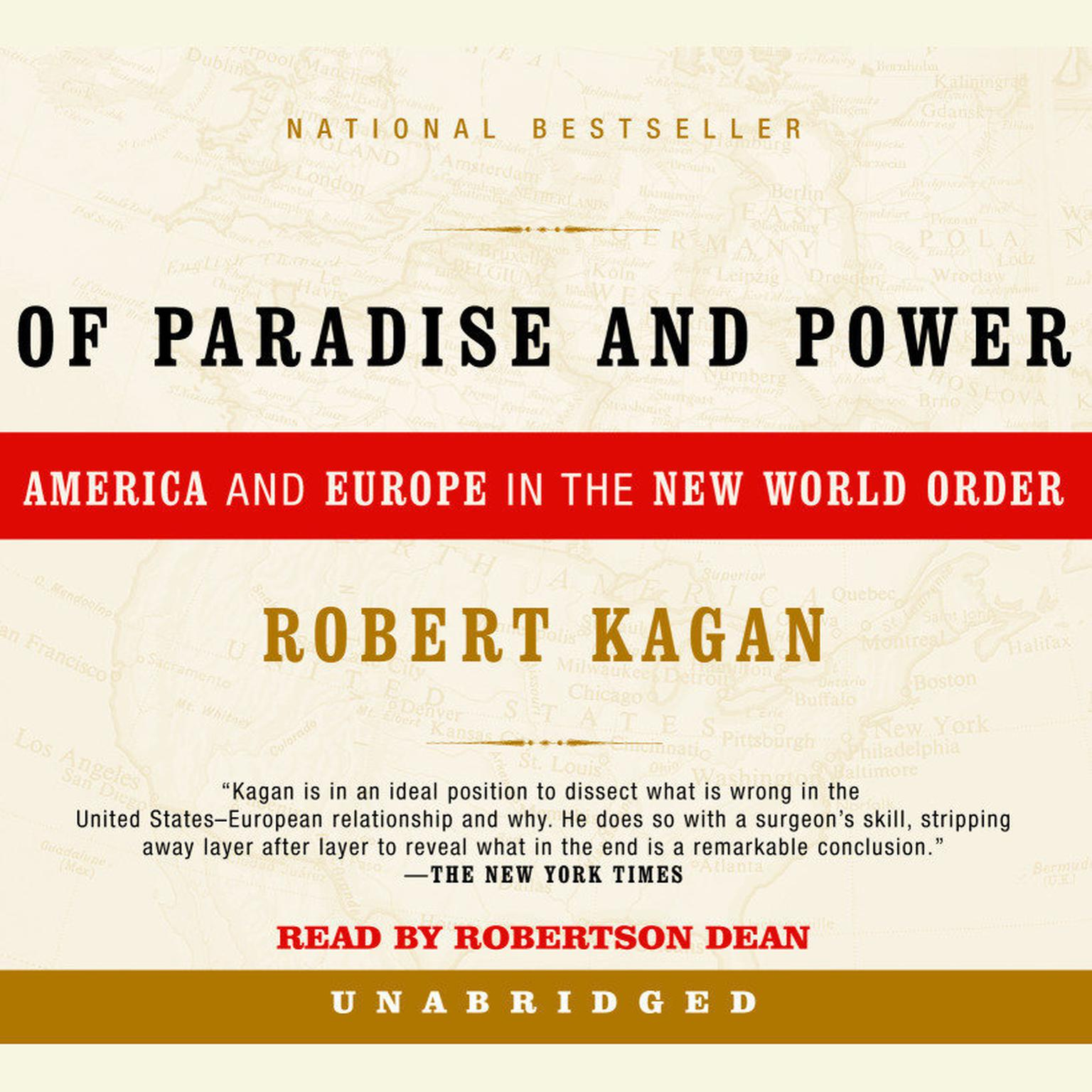 Printable Of Paradise and Power: America and Europe in the New World Order Audiobook Cover Art