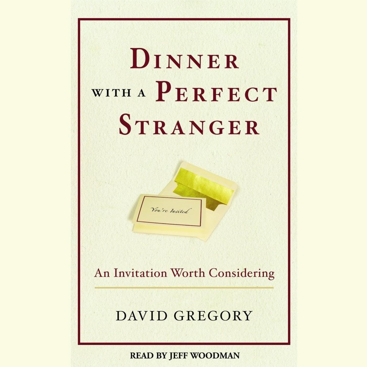 Printable Dinner with a Perfect Stranger: An Invitation Worth Considering Audiobook Cover Art