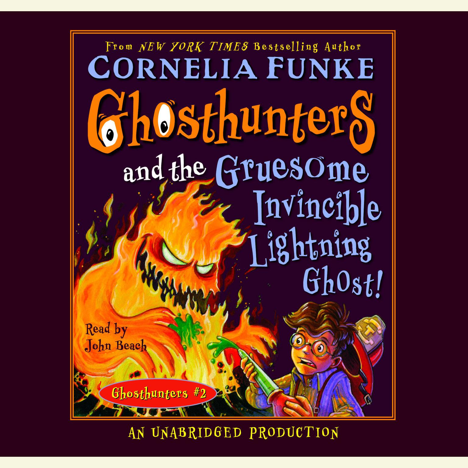 Printable Ghosthunters and the Gruesome Invincible Lightning Ghost Audiobook Cover Art
