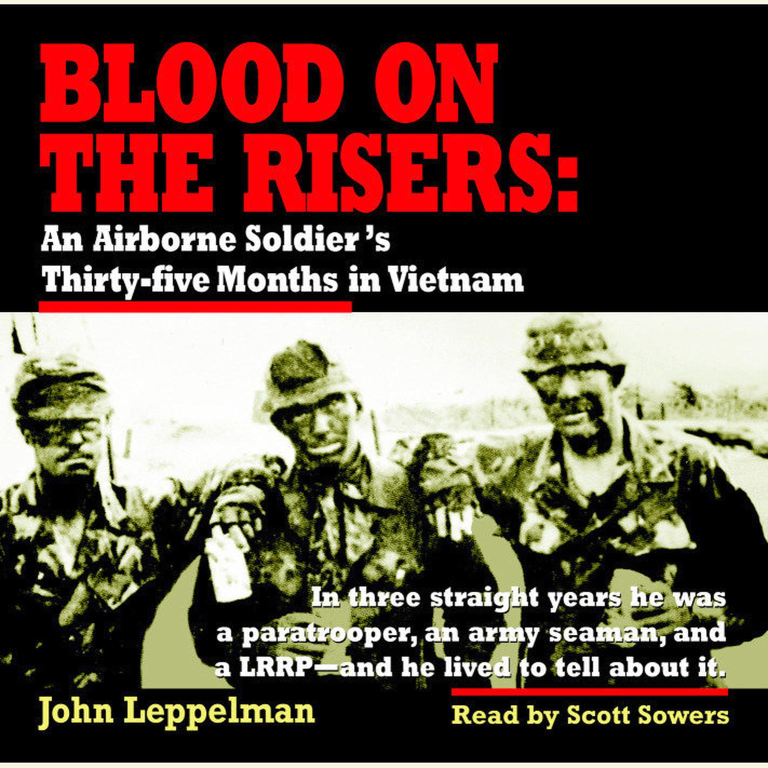 Printable Blood on the Risers: An Airborne Soldier's Thirty-five Months in Vietnam Audiobook Cover Art