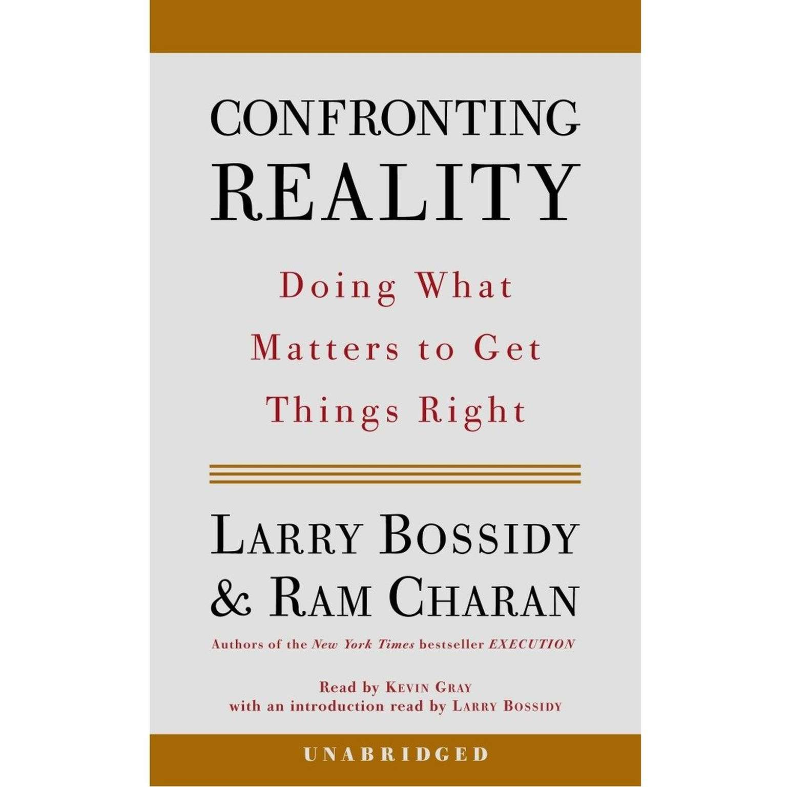 Printable Confronting Reality: Doing What Matters to Get Things Right Audiobook Cover Art